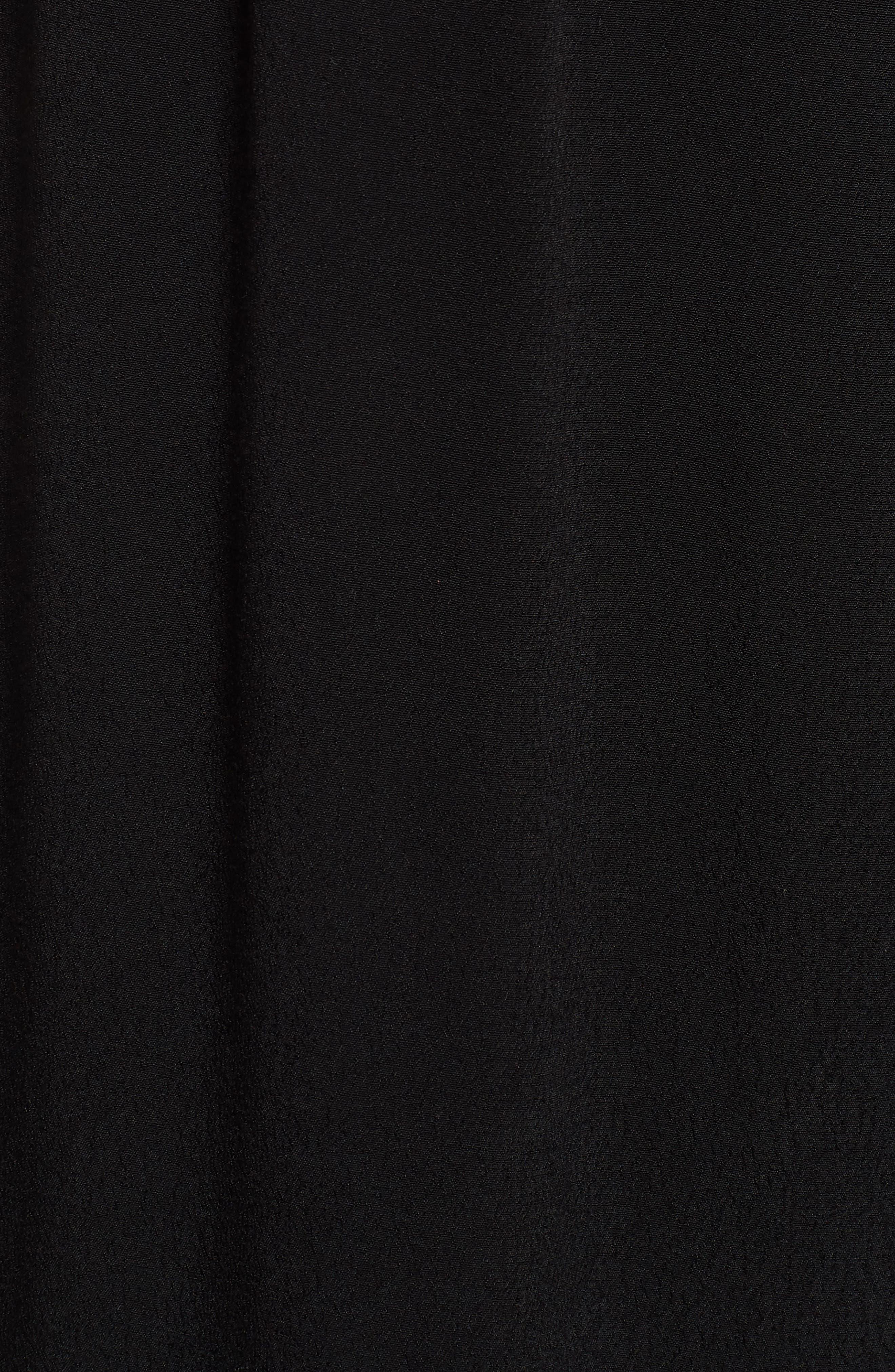 Paperbag Waist Culottes,                             Alternate thumbnail 5, color,                             Black