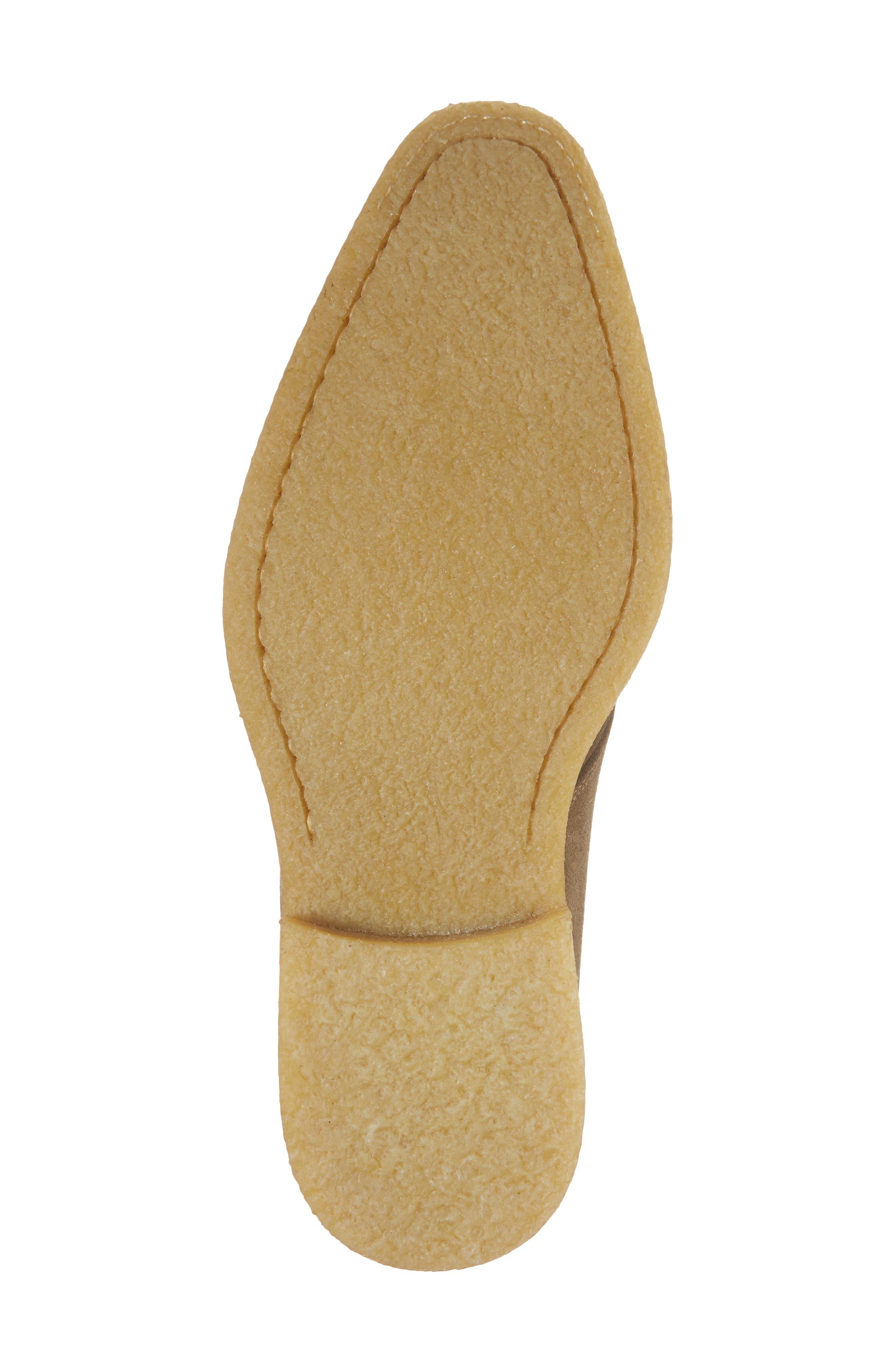 Baldwin Plain Toe Monk Shoe,                             Alternate thumbnail 6, color,                             Taupe Suede