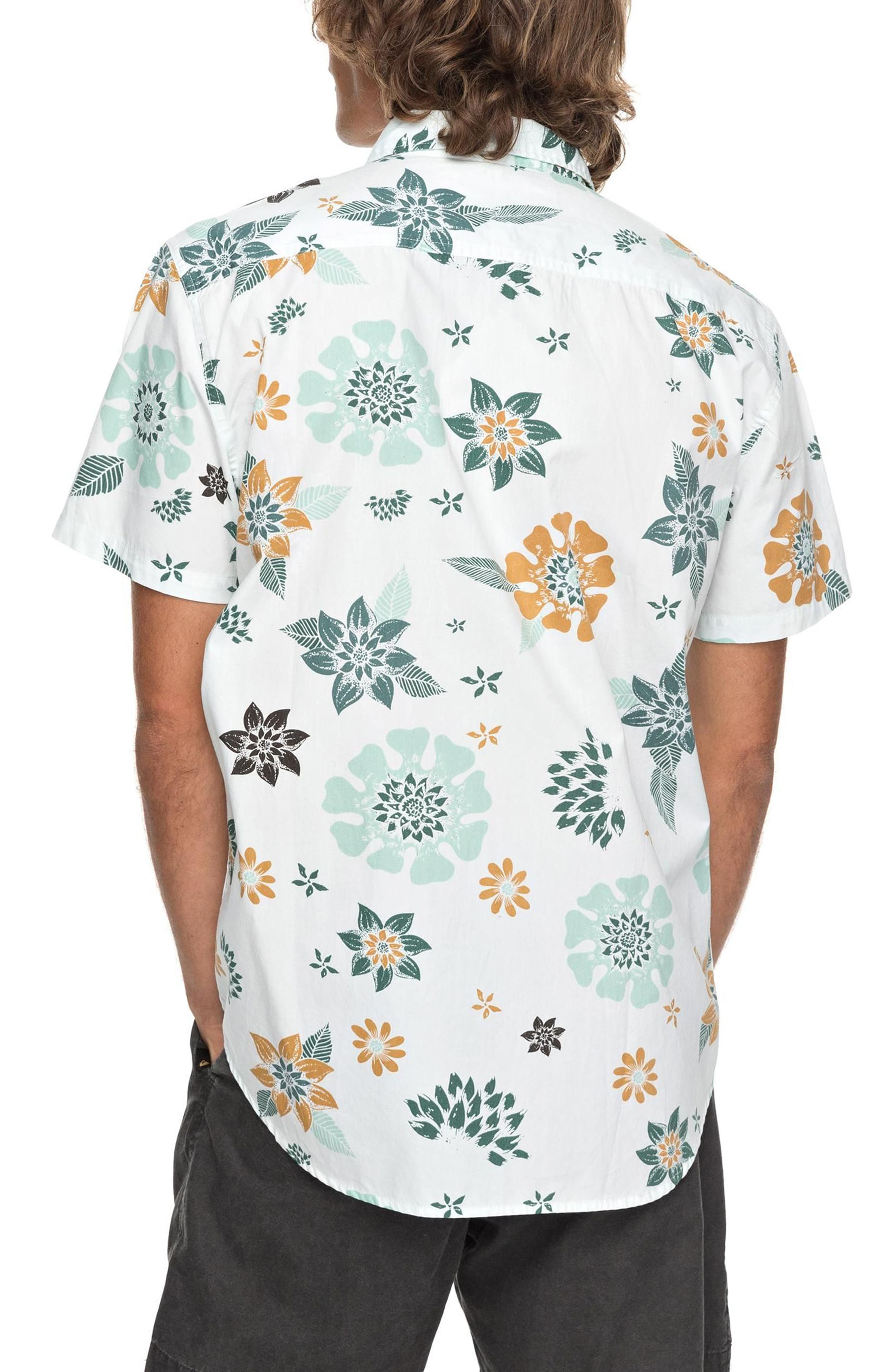 Sunset Floral Woven Shirt,                             Alternate thumbnail 2, color,                             White
