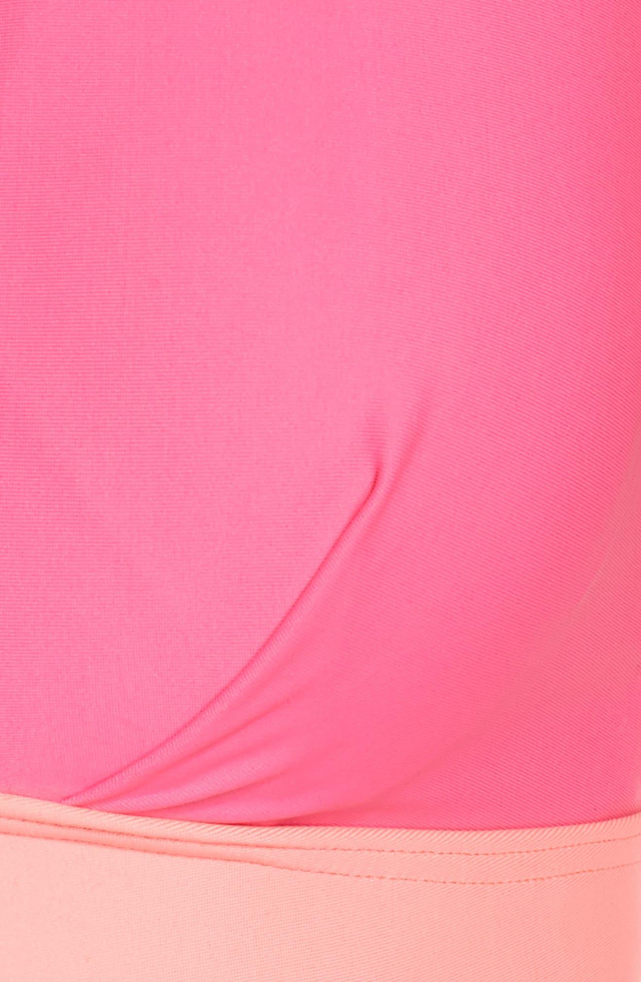 Contrast Bikini Top,                             Alternate thumbnail 8, color,                             Neon Pink