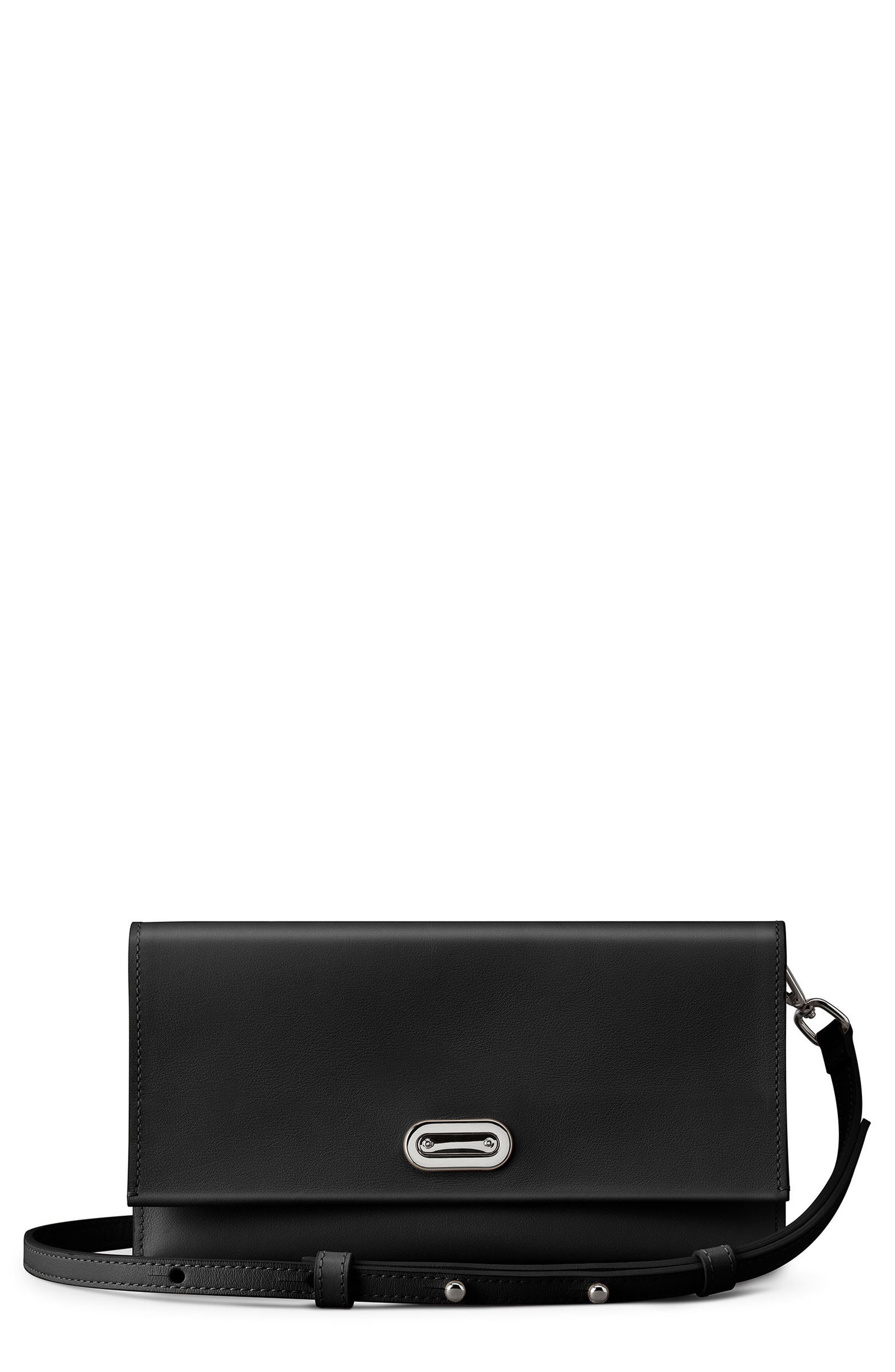 Birdy Leather Crossbody Bag,                             Main thumbnail 1, color,                             Black