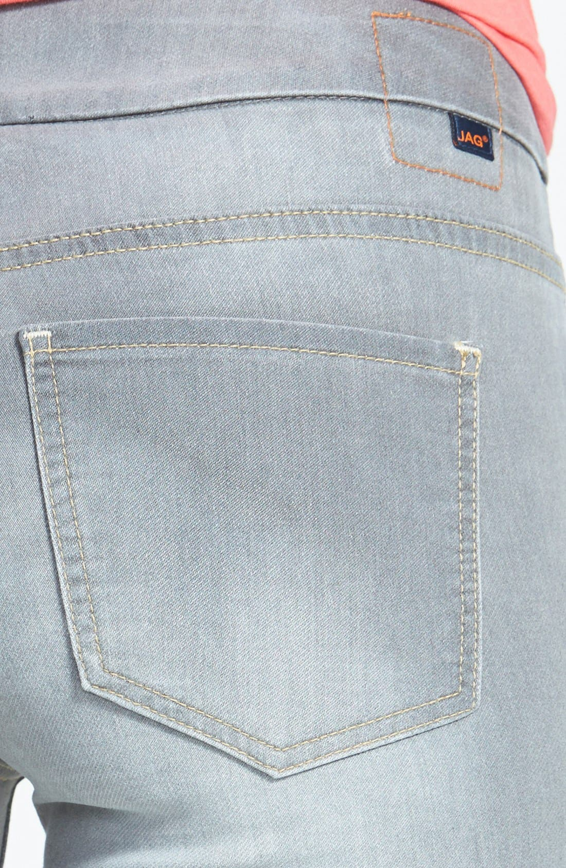 Alternate Image 3  - Jag Jeans 'Nora' Pull-On Stretch Knit Skinny Jeans (Antique Tint)