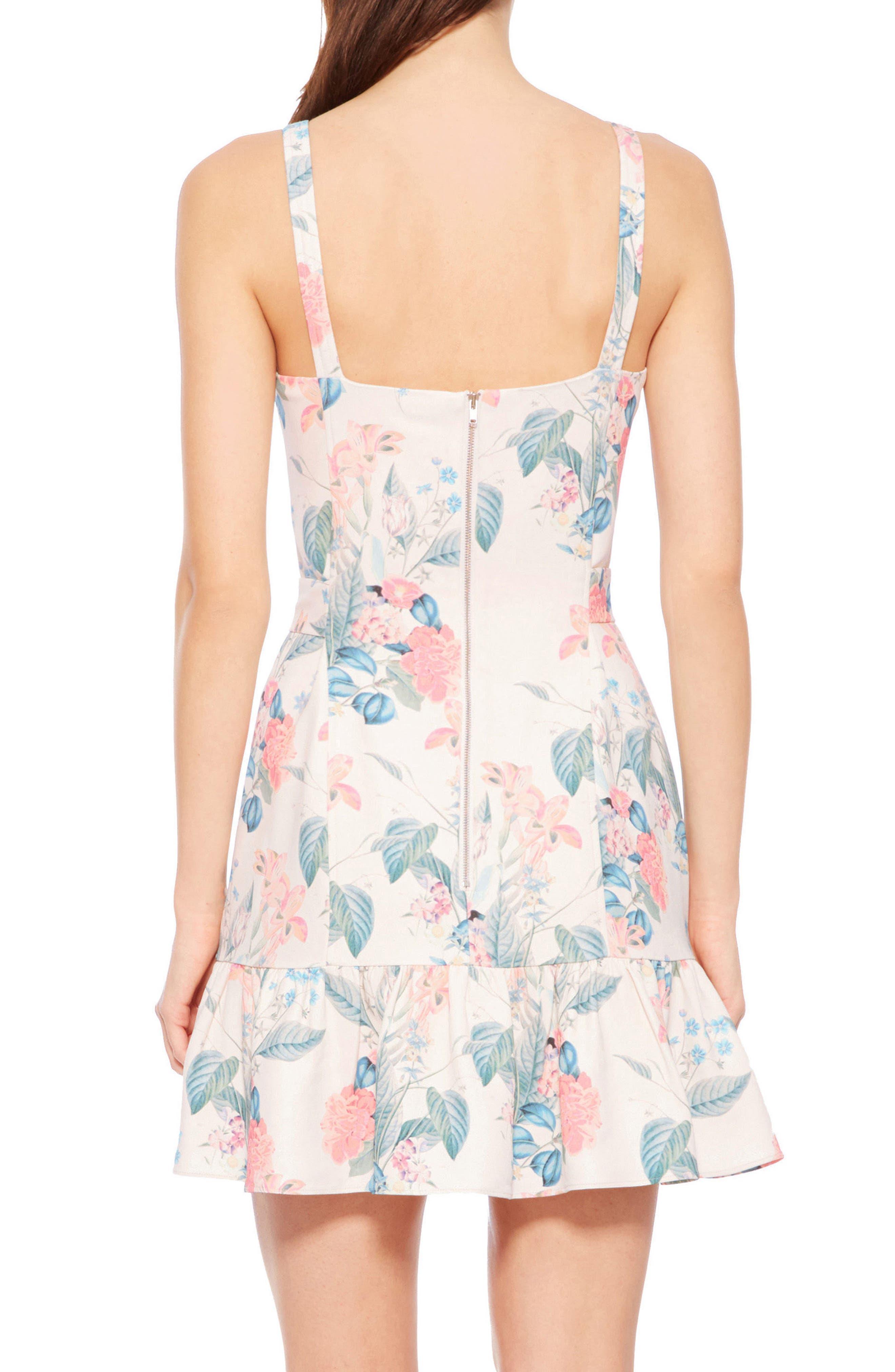 Yuna Dress,                             Alternate thumbnail 3, color,                             Mellow Meadow