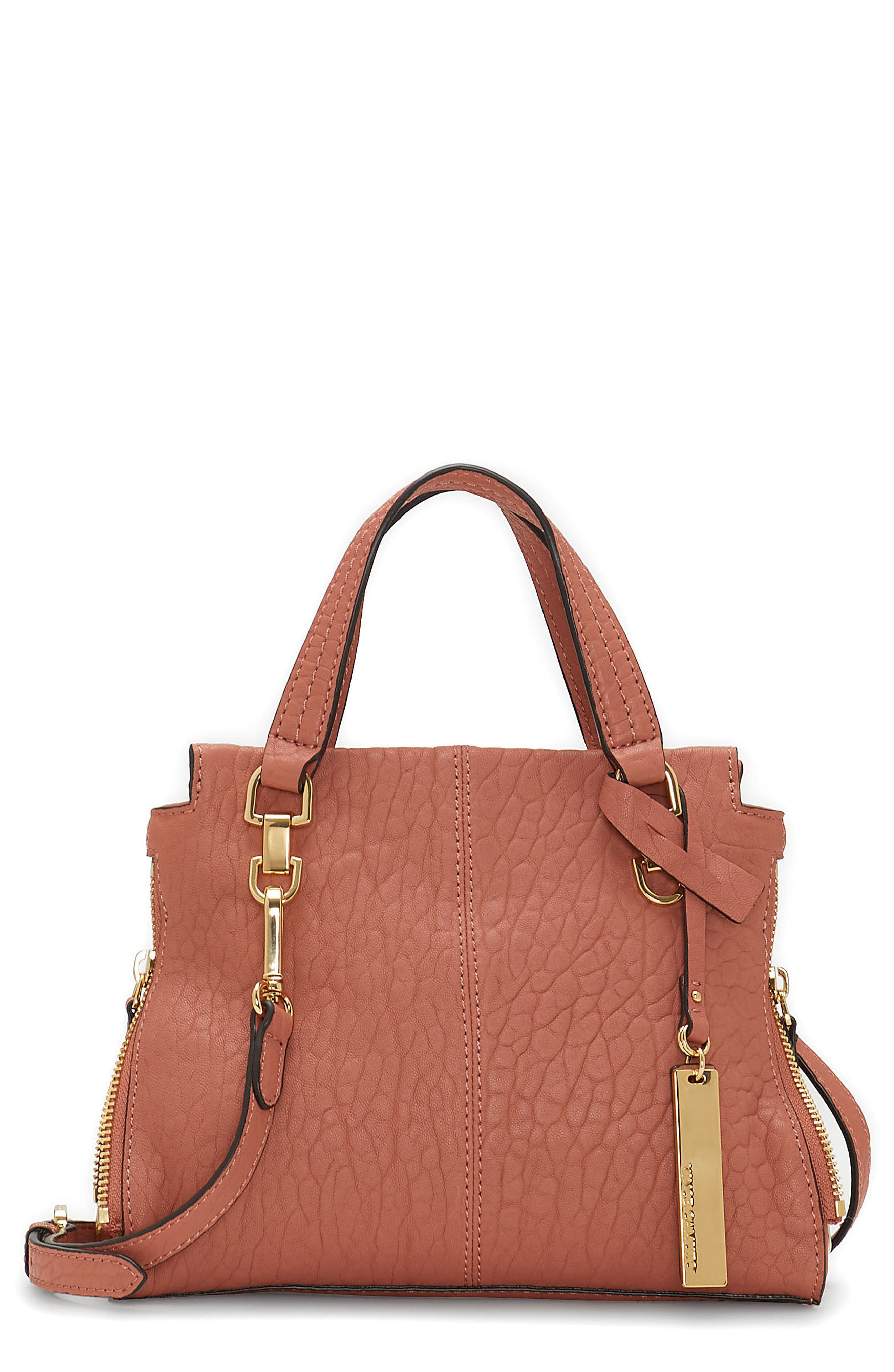 Small Riley Leather Tote,                         Main,                         color, Sushi
