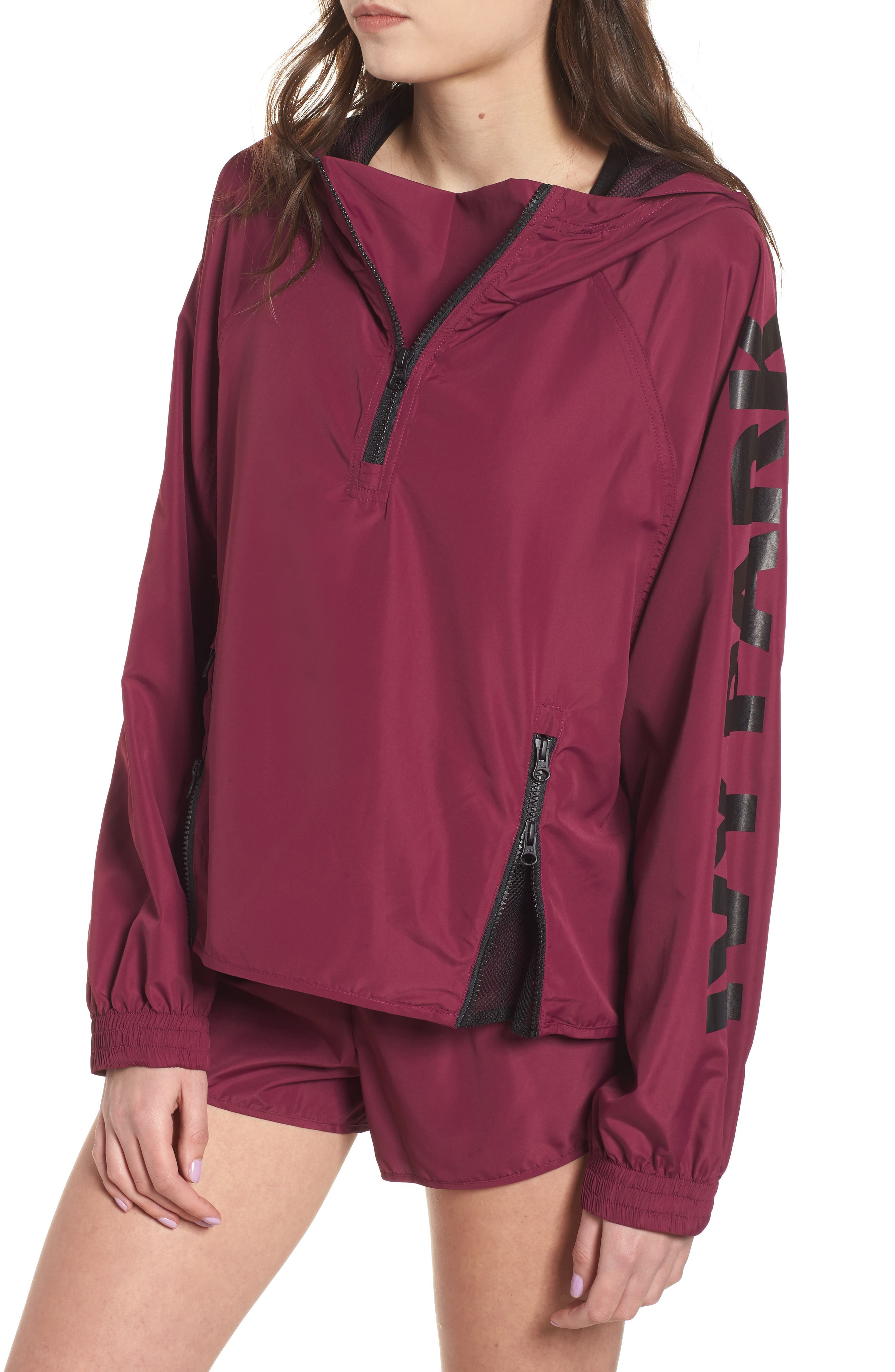 IVY PARK® Quarter Zip Hooded Jacket