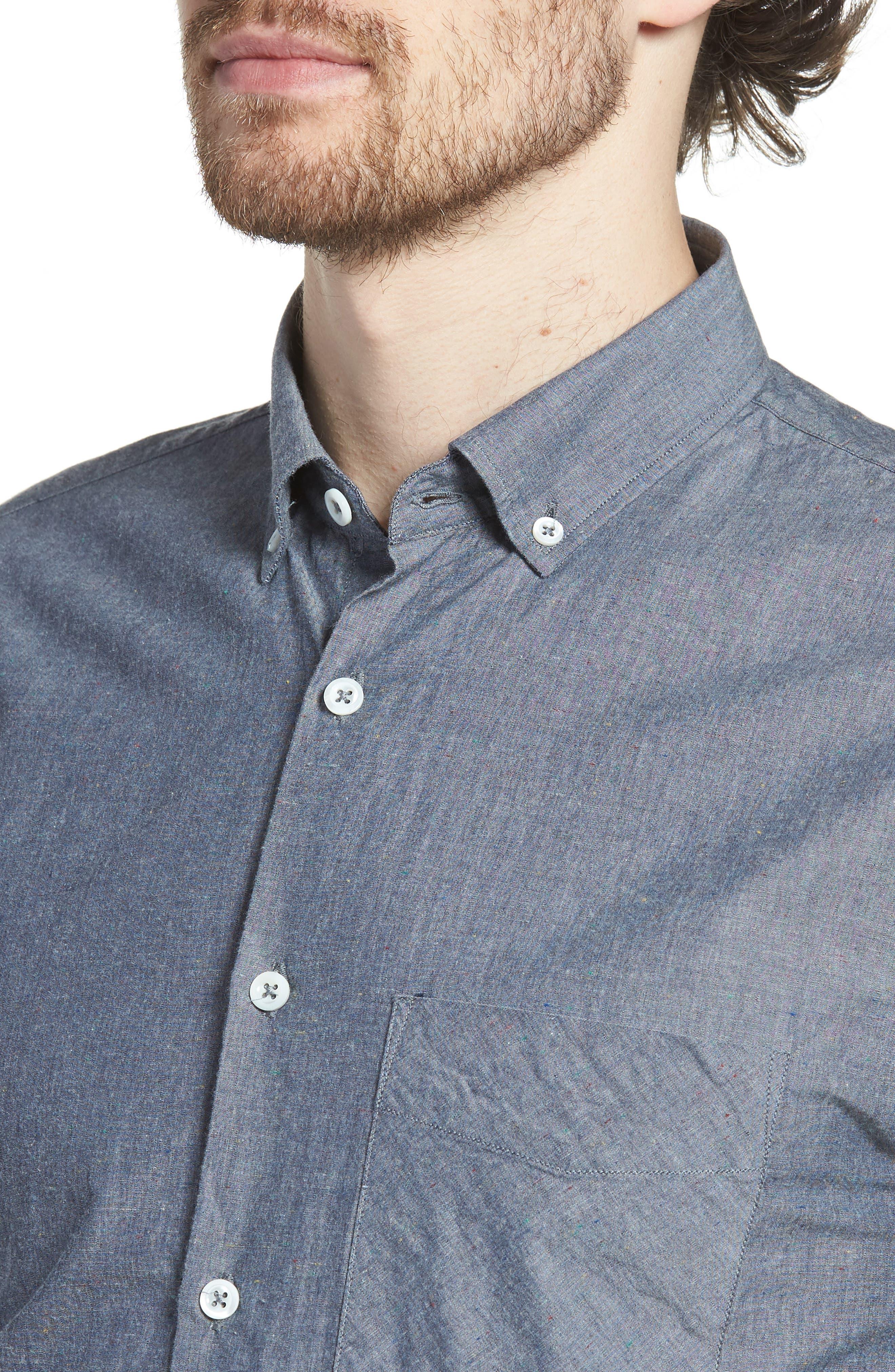 Kirby Slim Fit Solid Sport Shirt,                             Alternate thumbnail 2, color,                             Dark Indigo