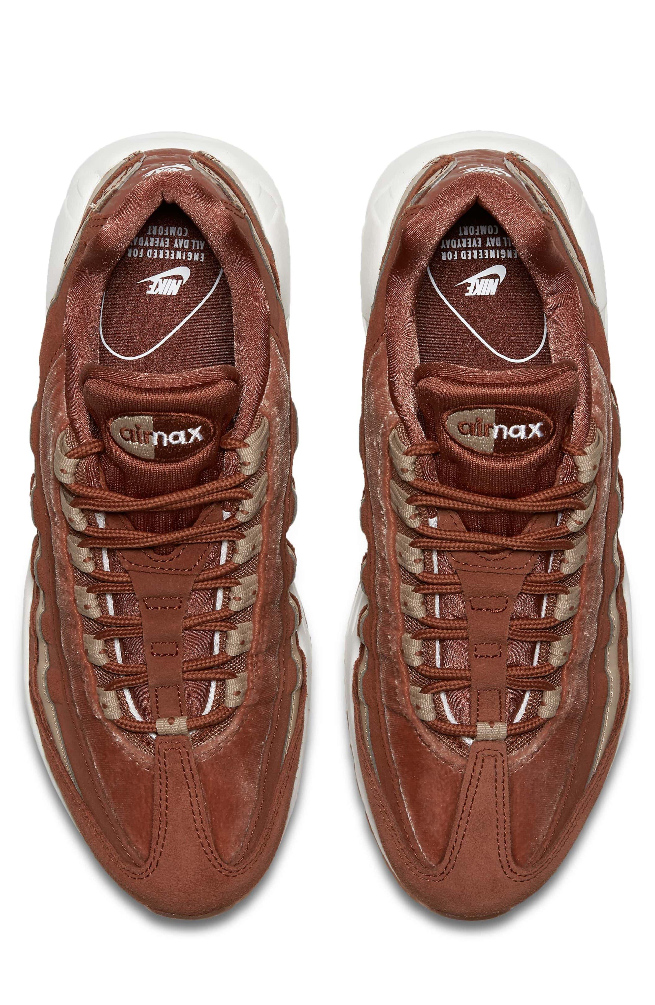 Air Max 95 LX Shoe,                             Alternate thumbnail 4, color,                             Dusty Peach/ Dusty Peach