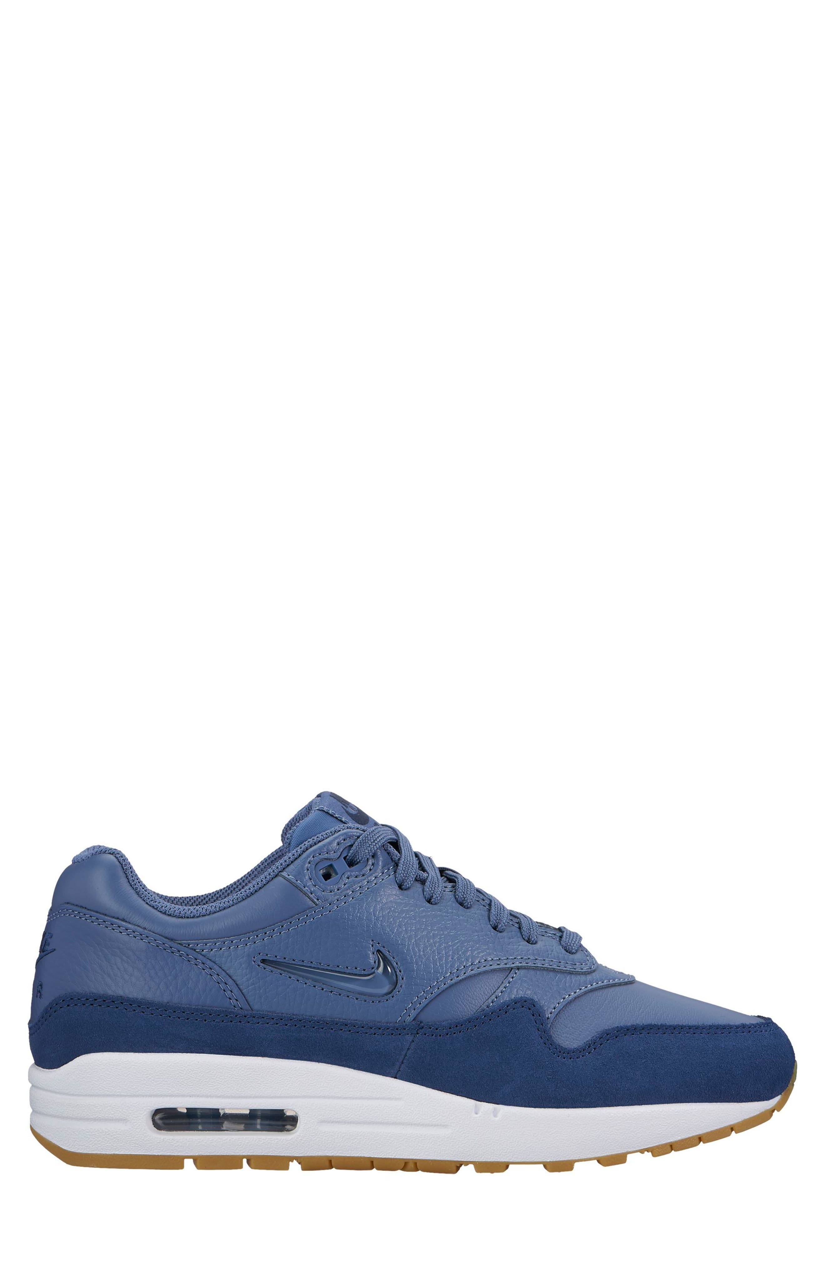 Air Max 1 Premium SC Sneaker,                             Main thumbnail 1, color,                             Diffused Blue/ Diffused Blue