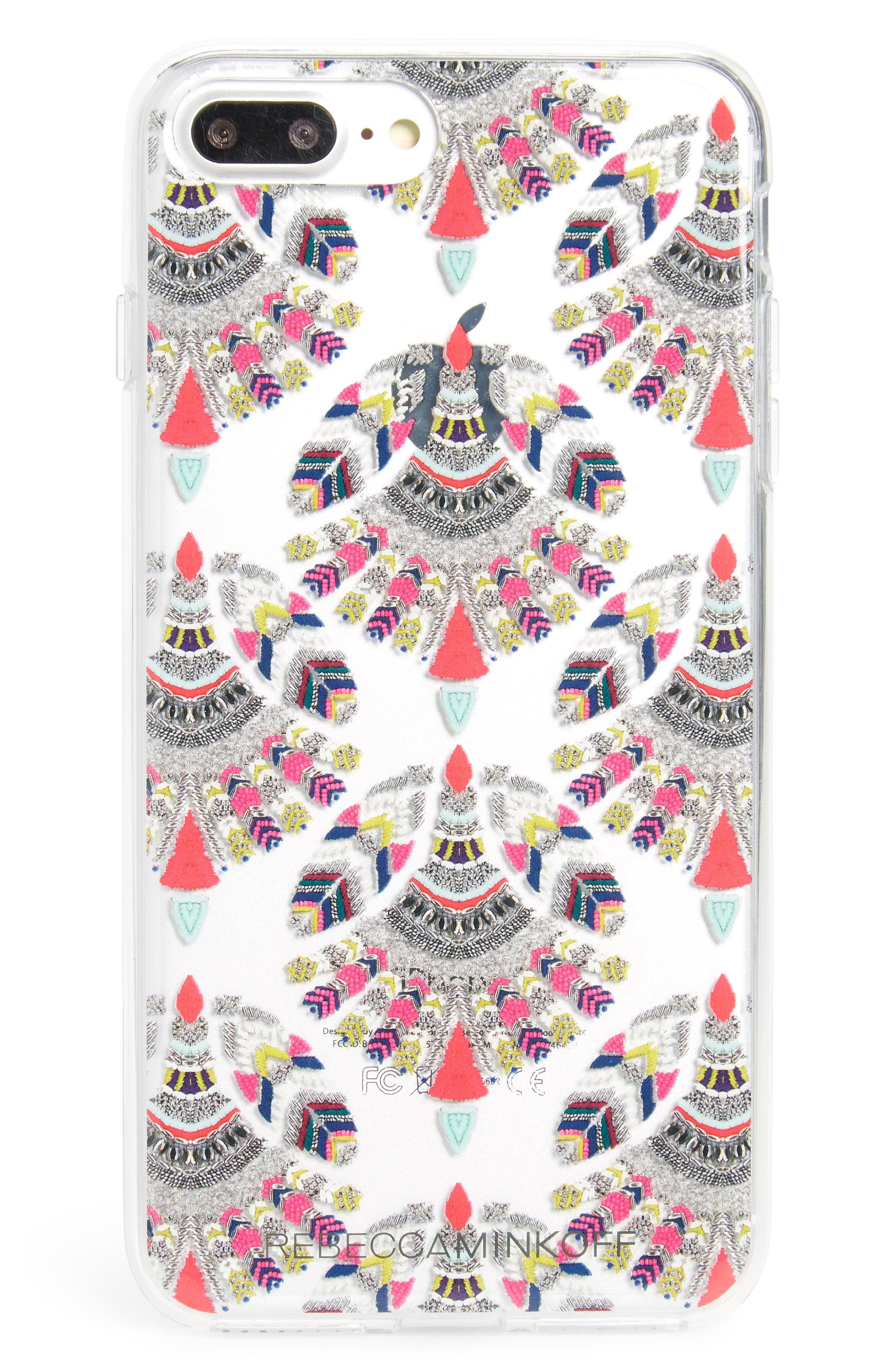 Fan Print Print iPhone 7/8 & 7/8 Plus Case,                             Main thumbnail 1, color,                             Multi