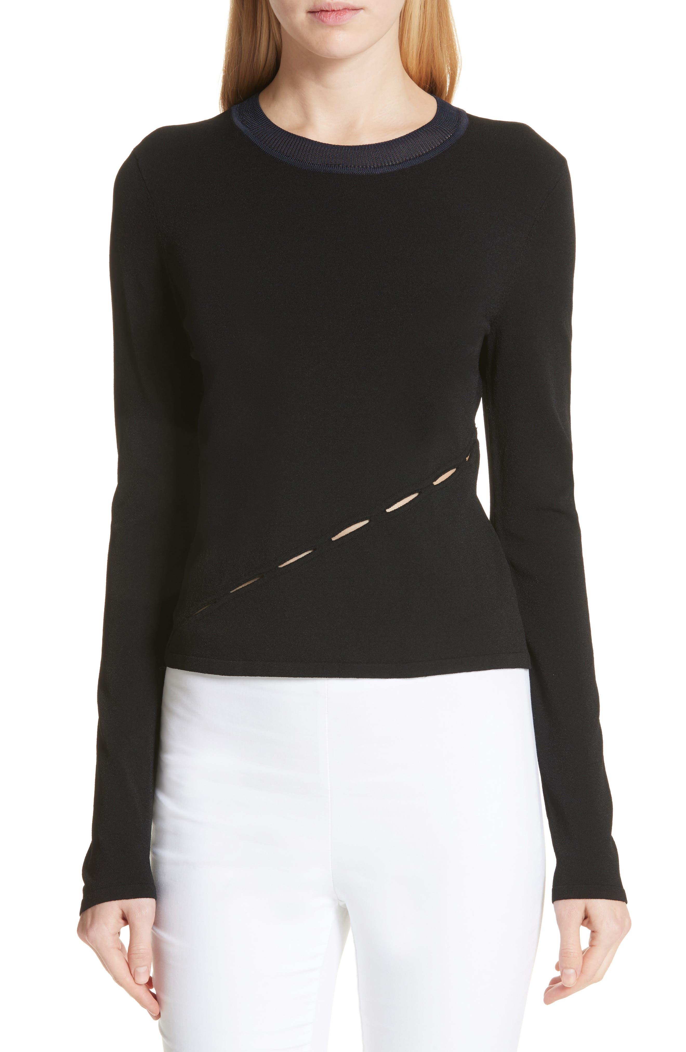 Eden Slash Detail Top,                         Main,                         color, Black