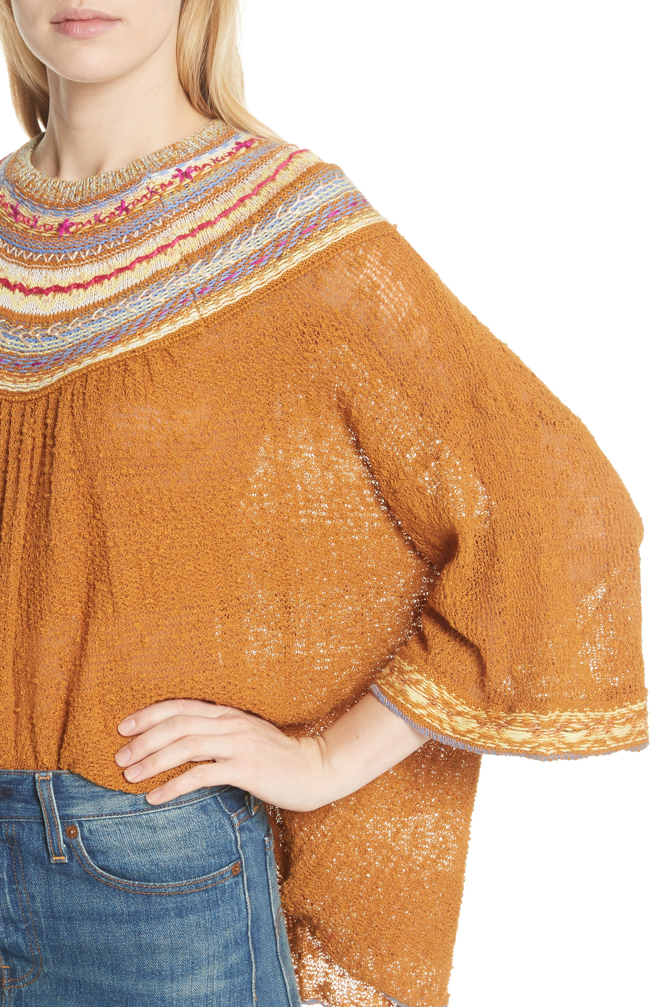 Vacation Sweater,                             Alternate thumbnail 4, color,                             Gold