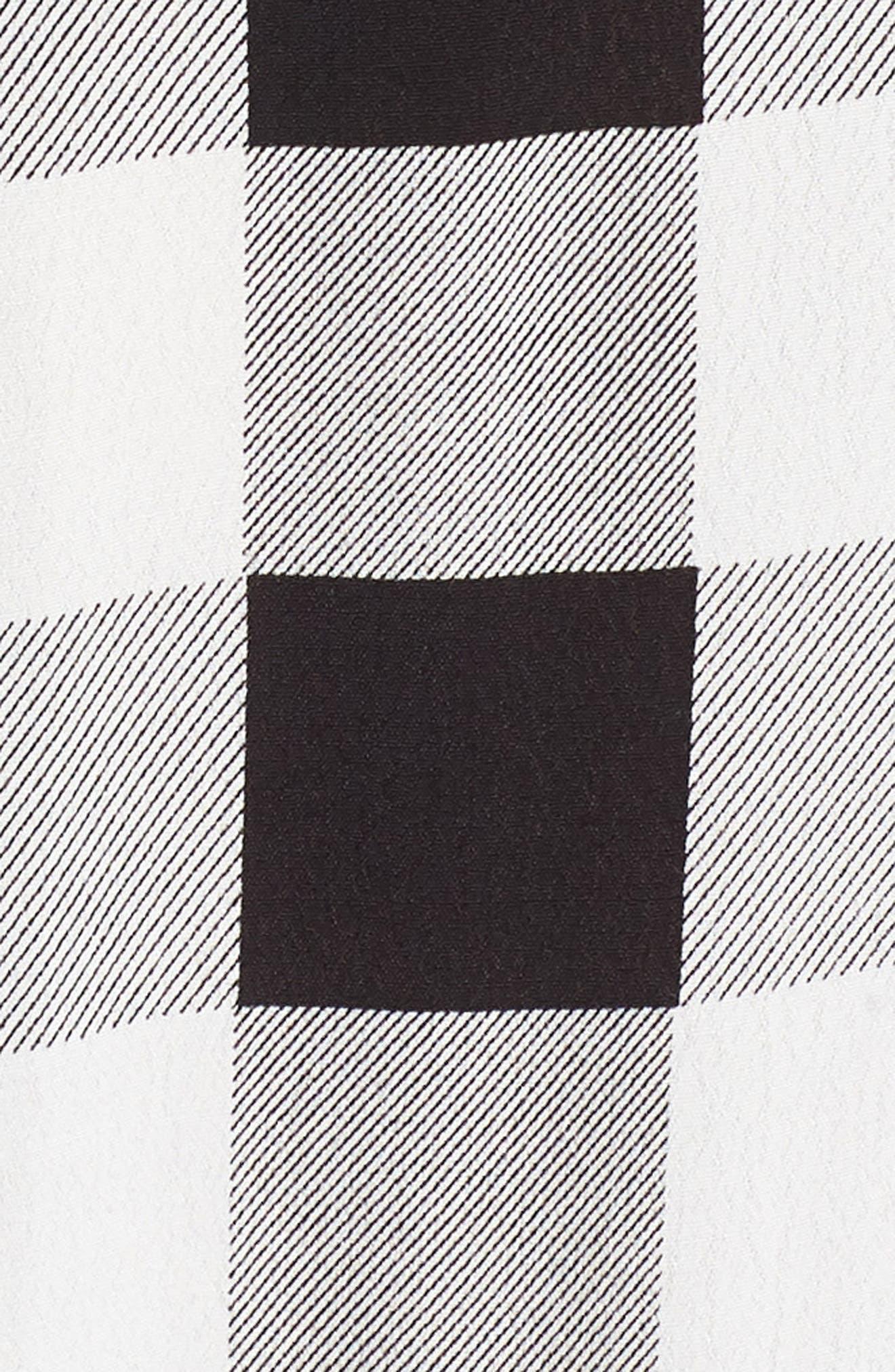 Ramon Tie Front Maxi Dress,                             Alternate thumbnail 5, color,                             Noir Blanc Gingham