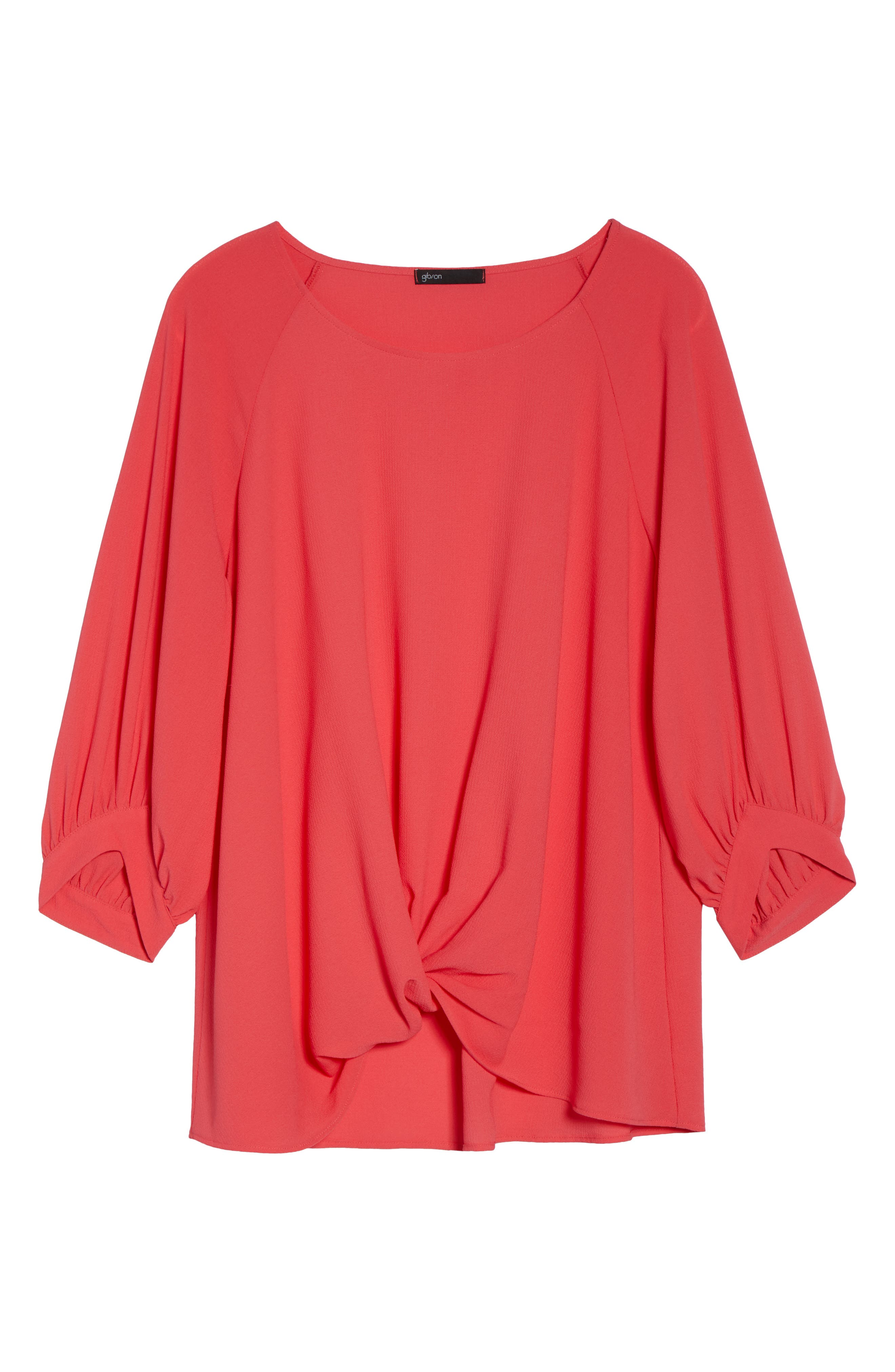 x Living in Yellow Maggie Twist Hem Top,                             Alternate thumbnail 8, color,                             Poppy