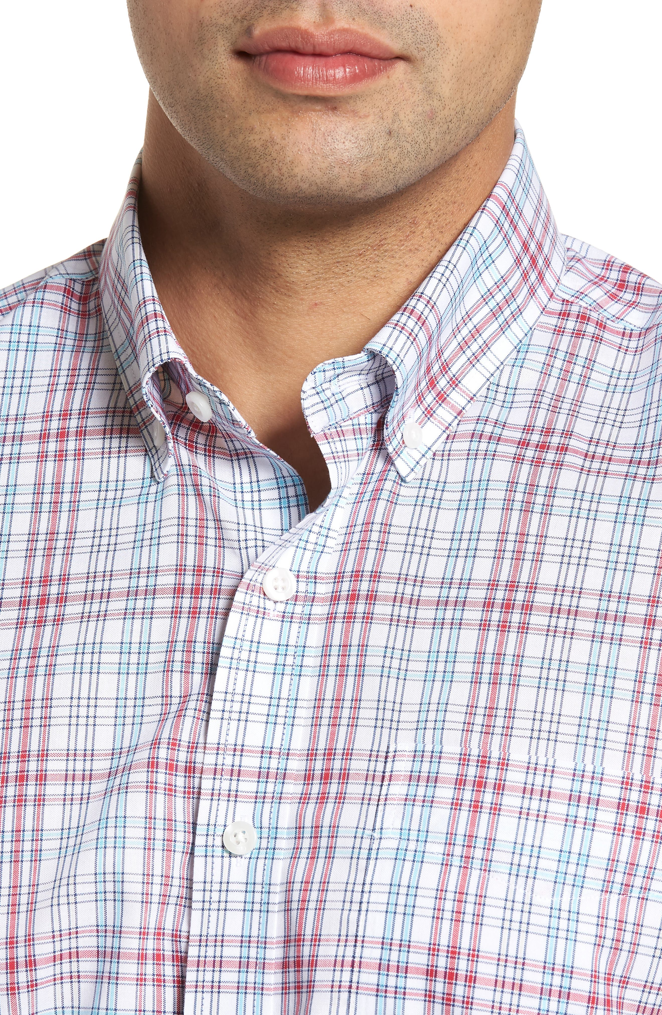 Alternate Image 4  - Cutter & Buck Charlie Classic Fit Easy Care Check Sport Shirt