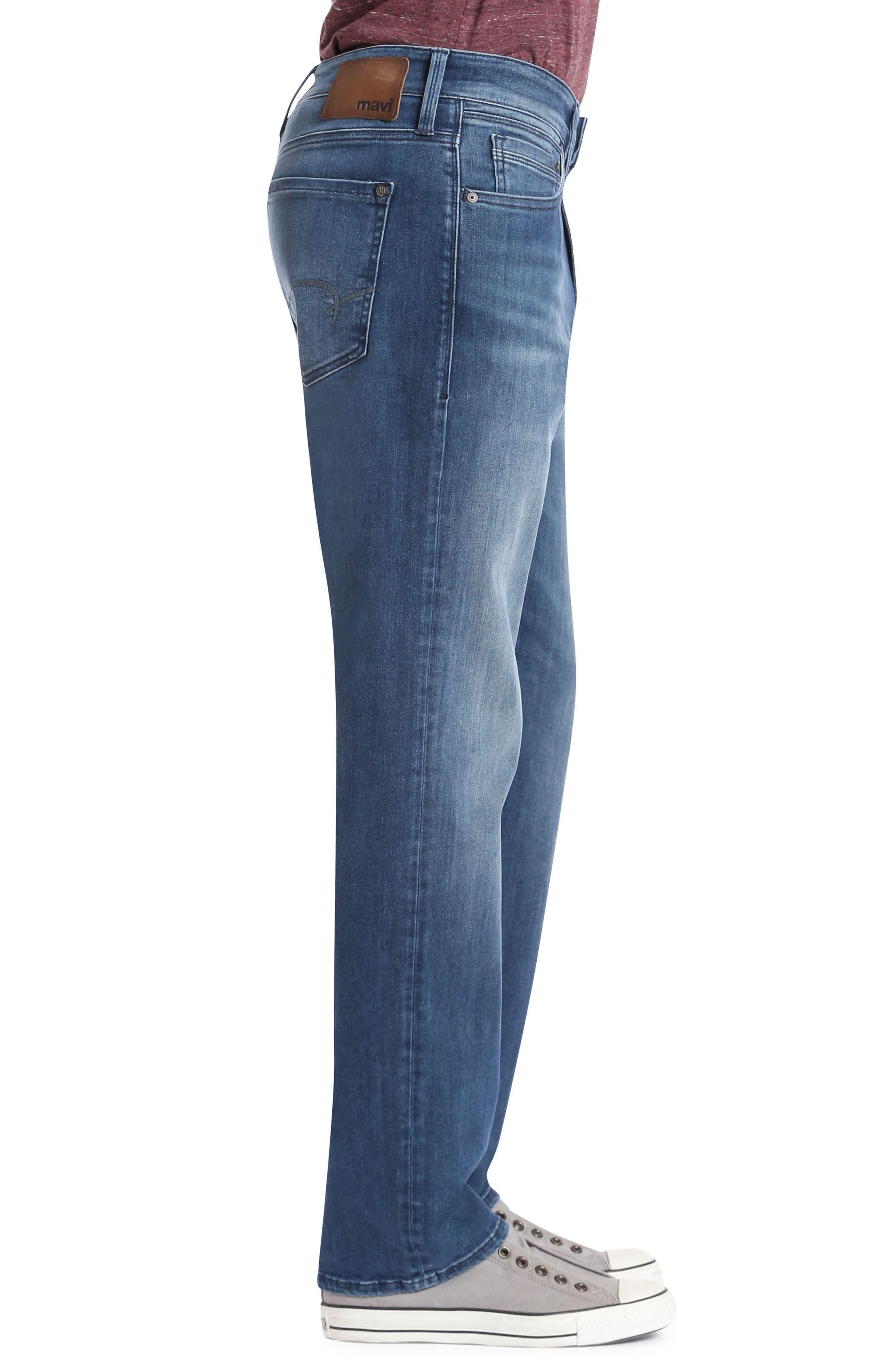 Myles Straight Leg Jeans,                             Alternate thumbnail 3, color,                             Mid Tonal Williamsburg