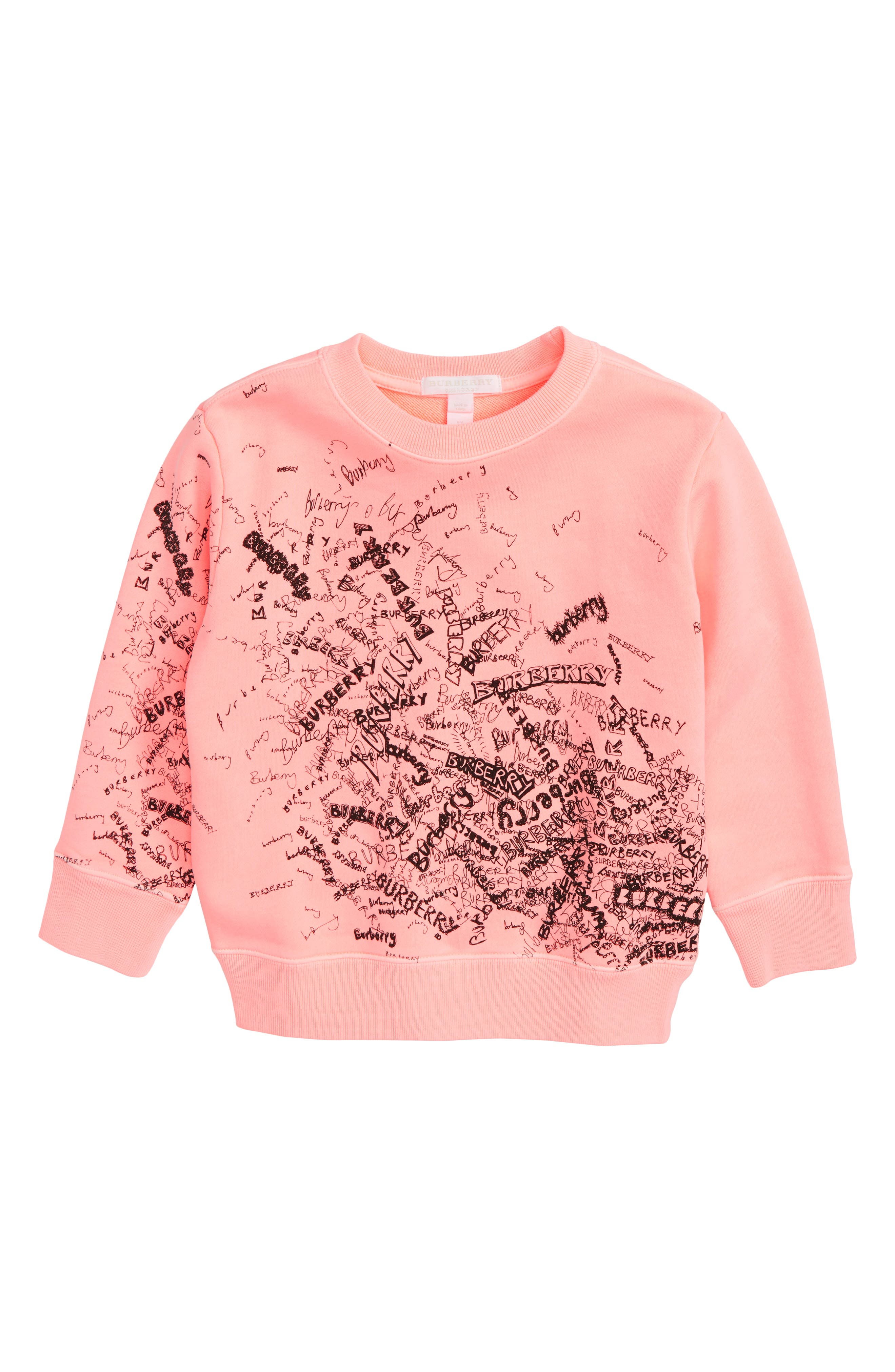 Burberry Logo Doodle Print Sweatshirt (Little Girls & Big Girls)