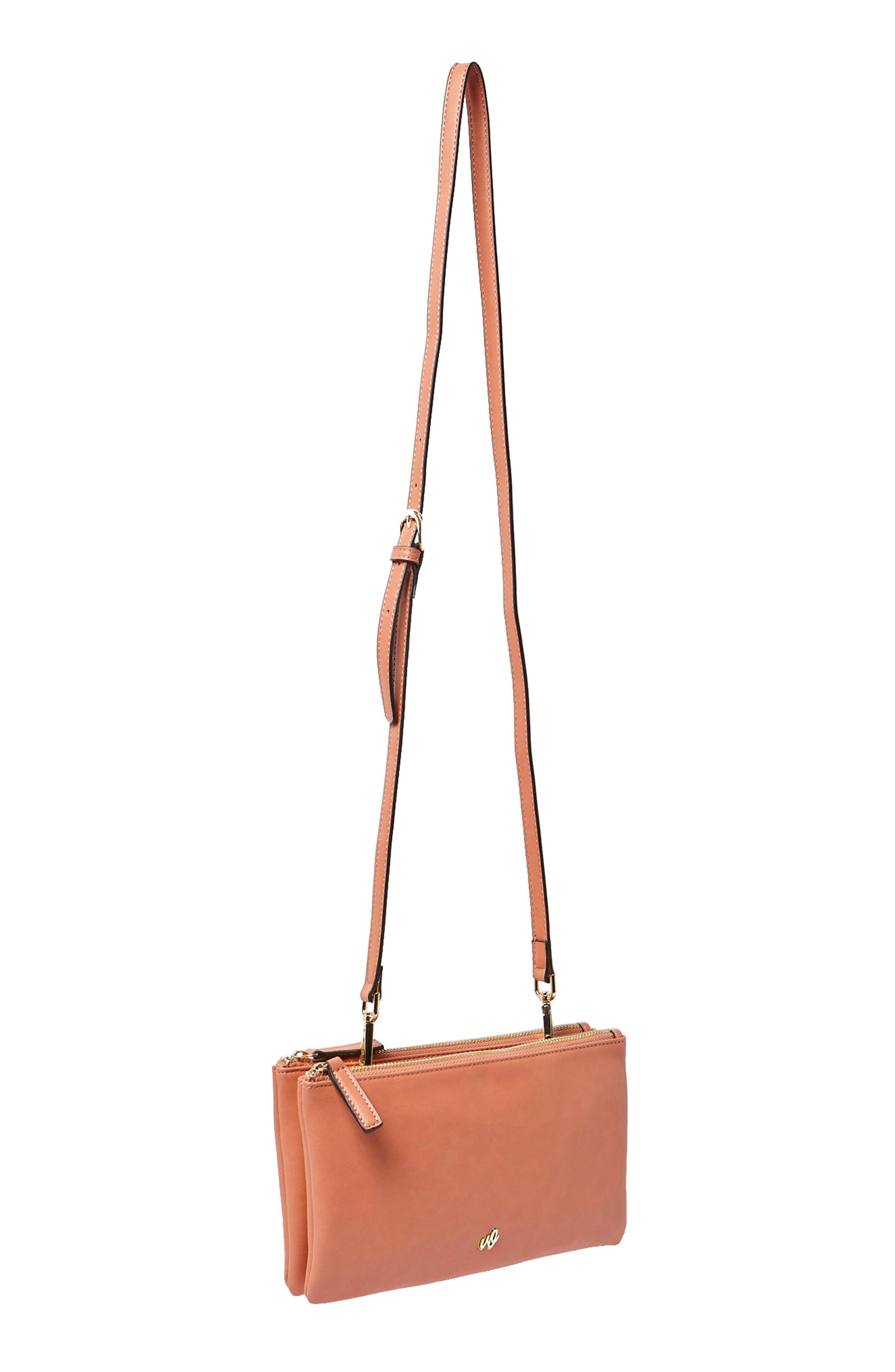 The Enchanted Vegan Leather Crossbody Bag,                             Alternate thumbnail 2, color,                             Rose Pink