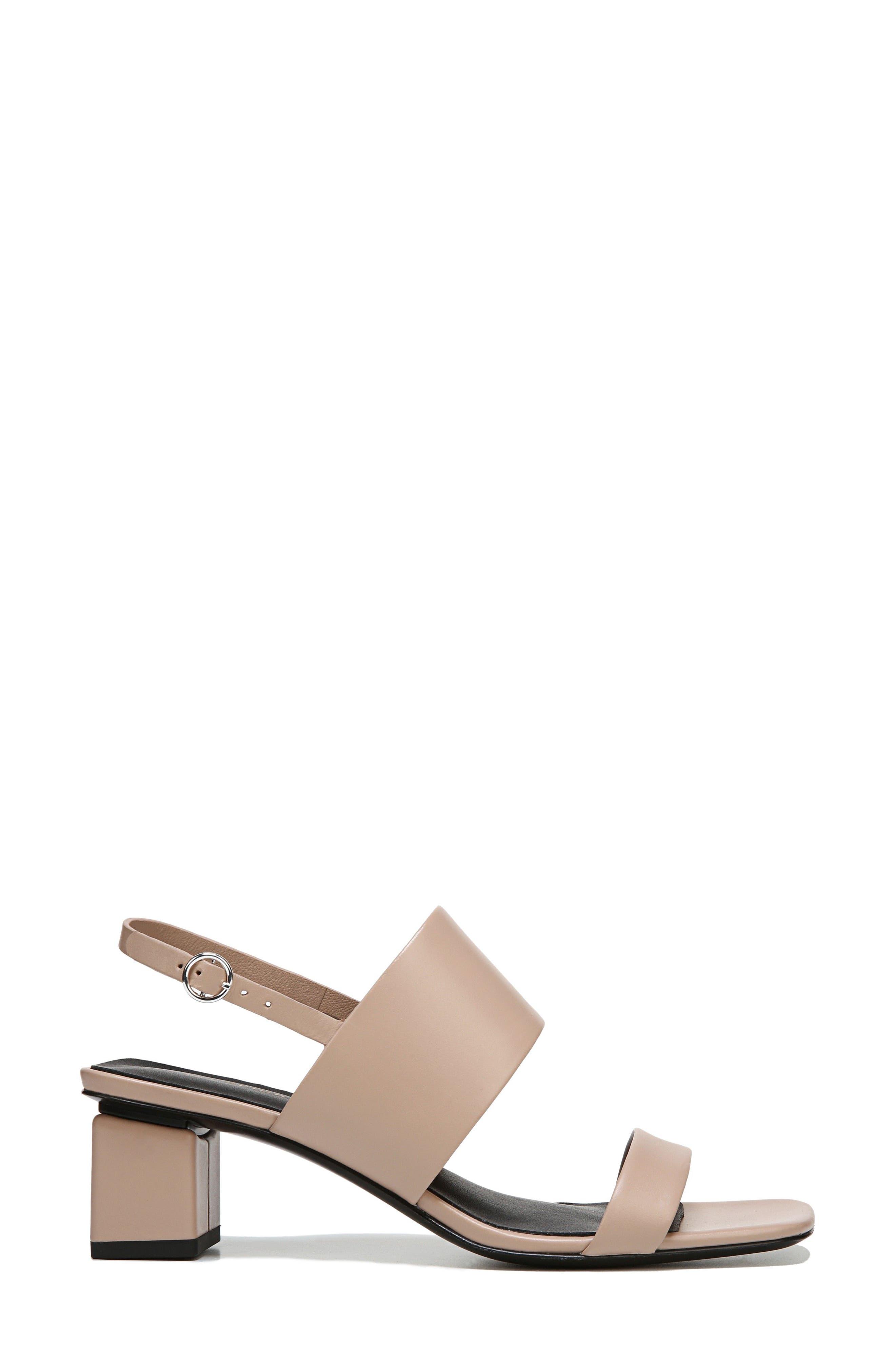 Forte Block Heel Sandal,                             Alternate thumbnail 3, color,                             Sand Patent