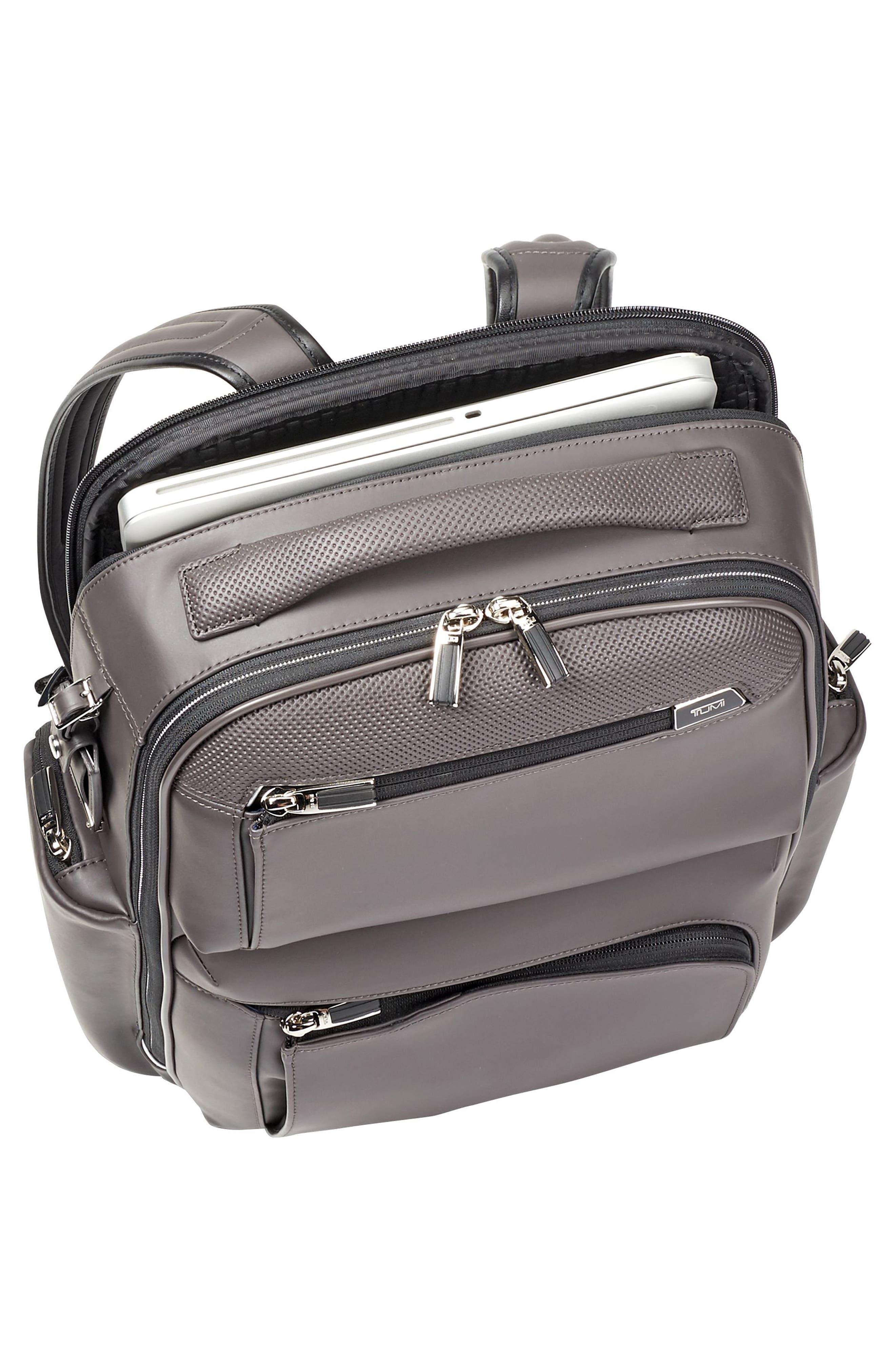 Arrivé - Bradley Leather Backpack,                             Alternate thumbnail 6, color,                             Taupe