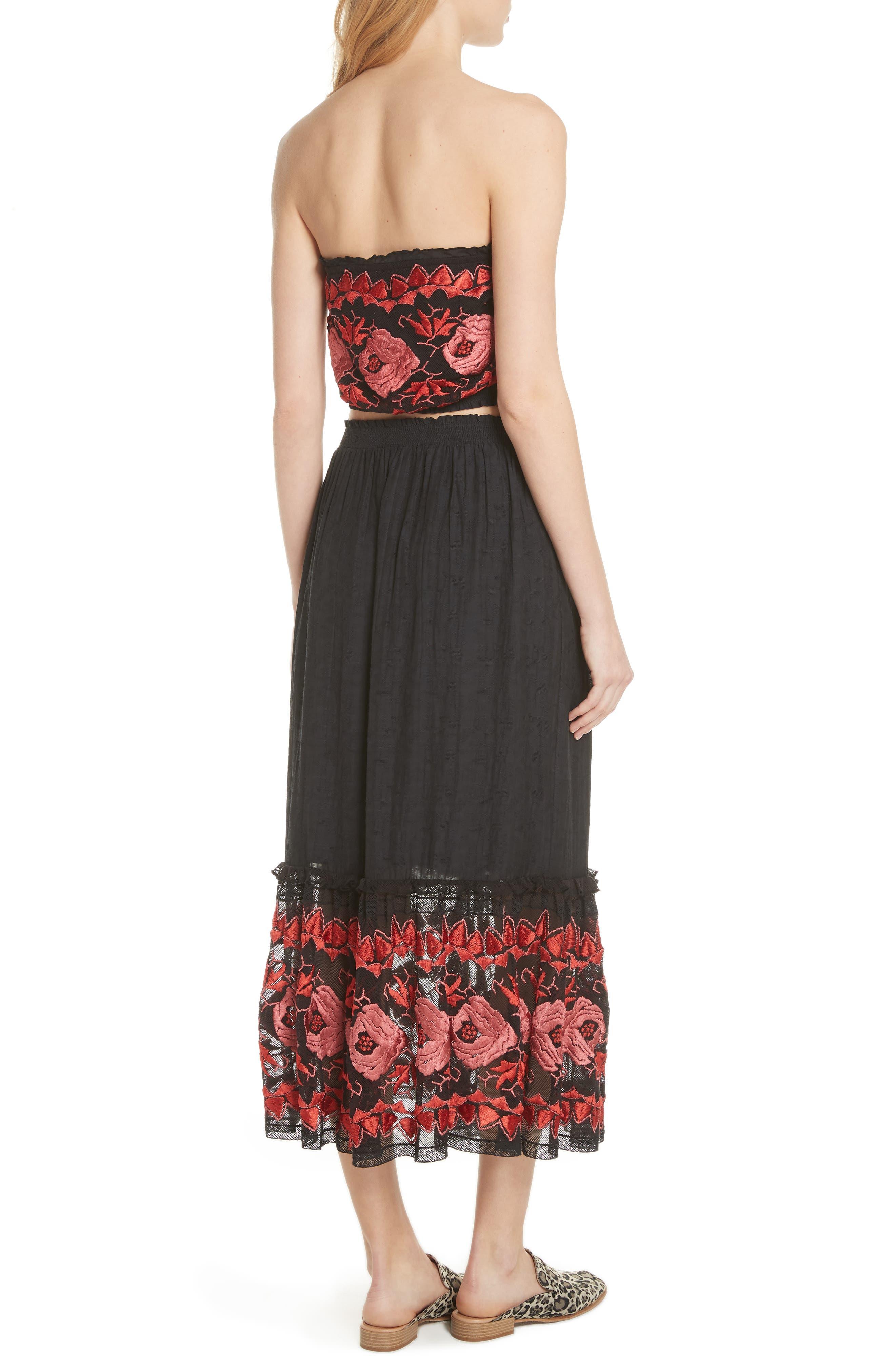 Rosebud Top & Skirt,                             Alternate thumbnail 2, color,                             Black Combo