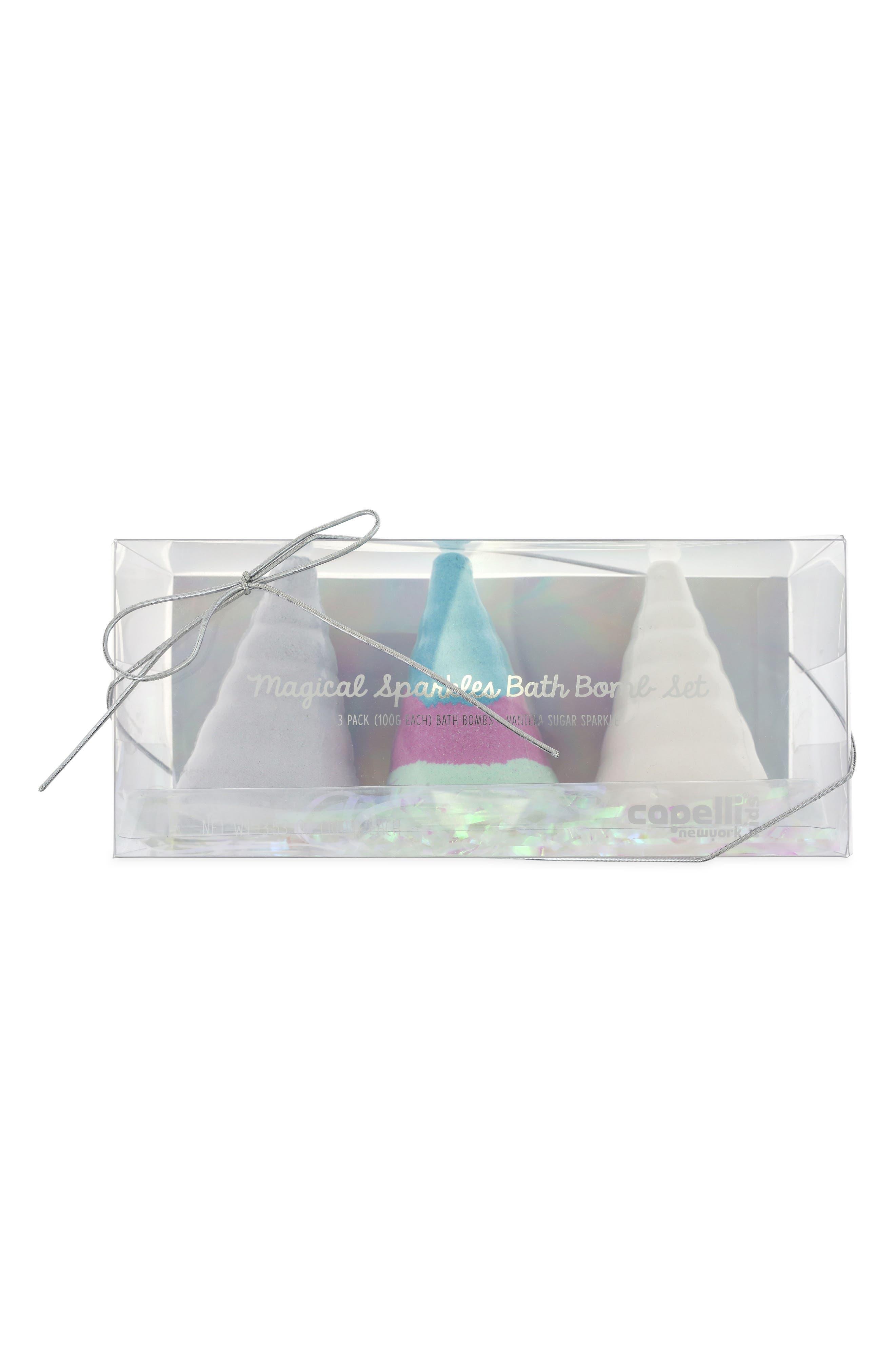 Capelli New York 3-Pack Unicorn Bath Fizzie Set