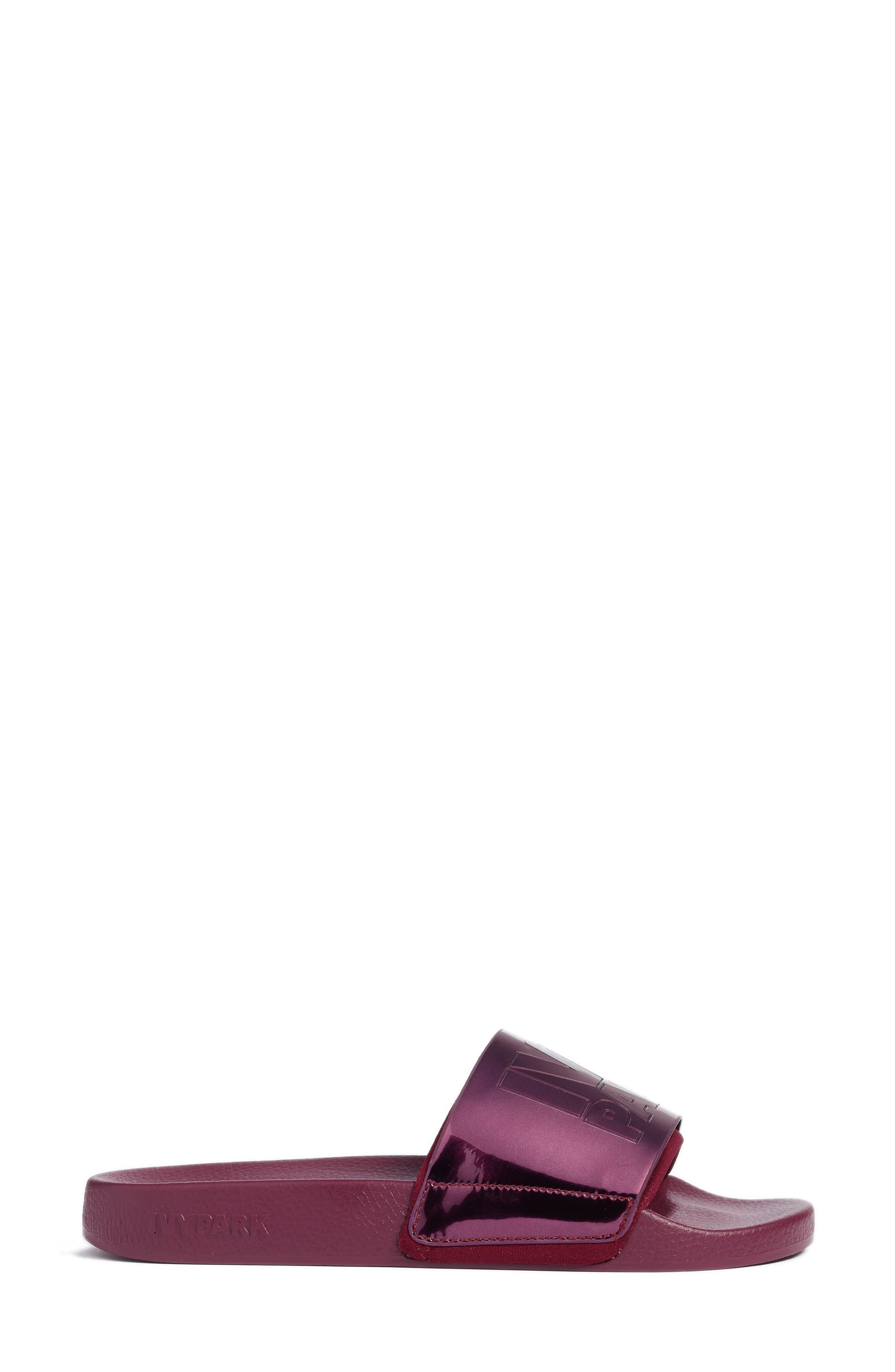 Slide Sandal,                             Alternate thumbnail 3, color,                             Plum