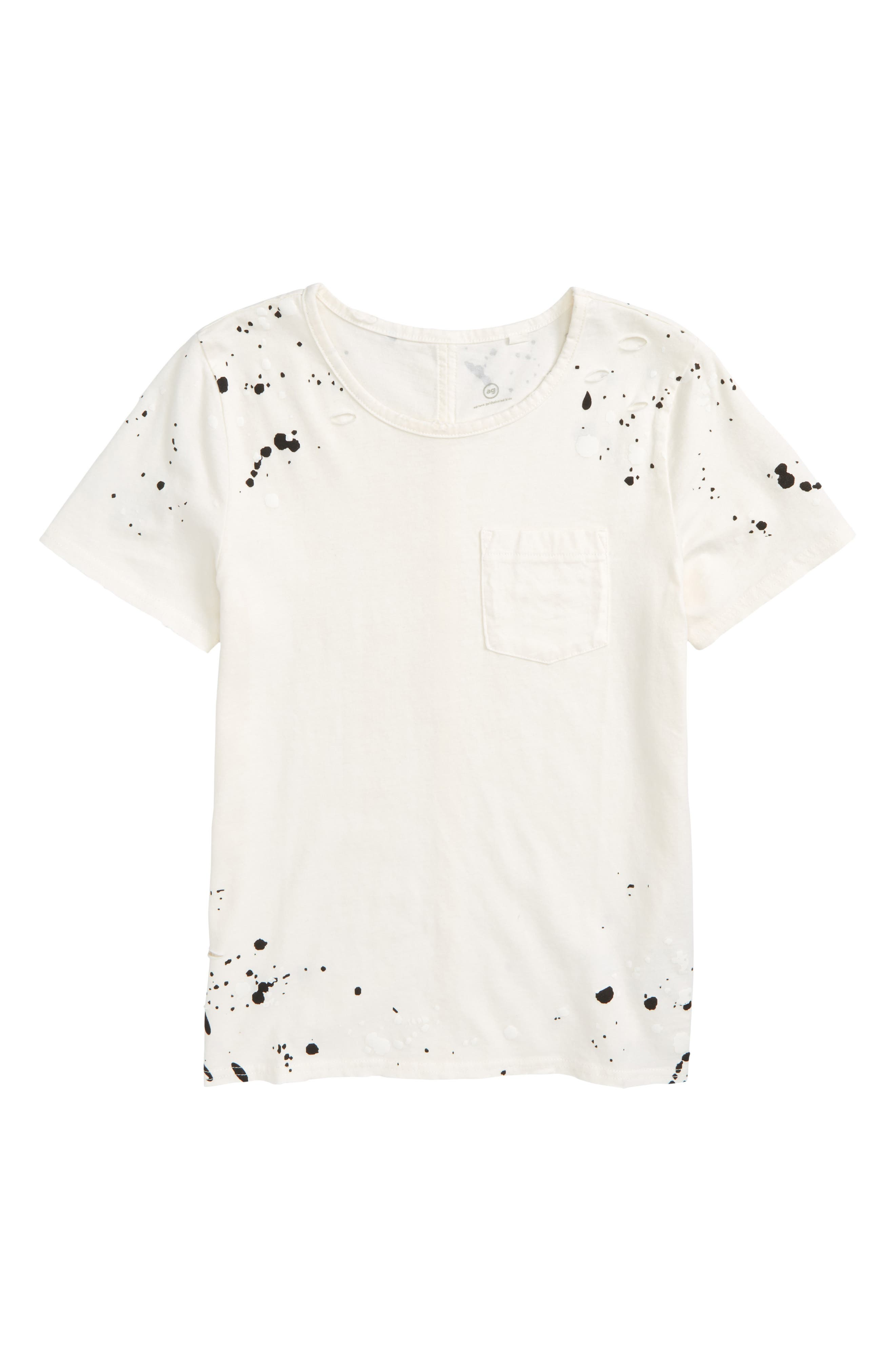 ag adriano goldschmied kids Waverly Paint Splatter Tee (Big Girls)