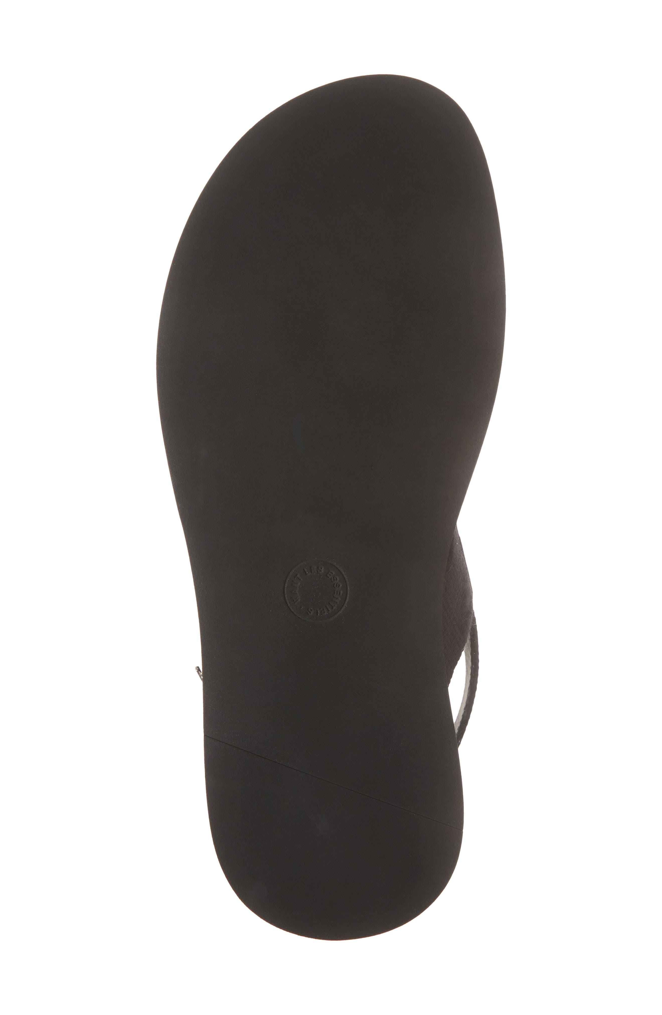 Jobim Sandal,                             Alternate thumbnail 6, color,                             Black Cord/ Black