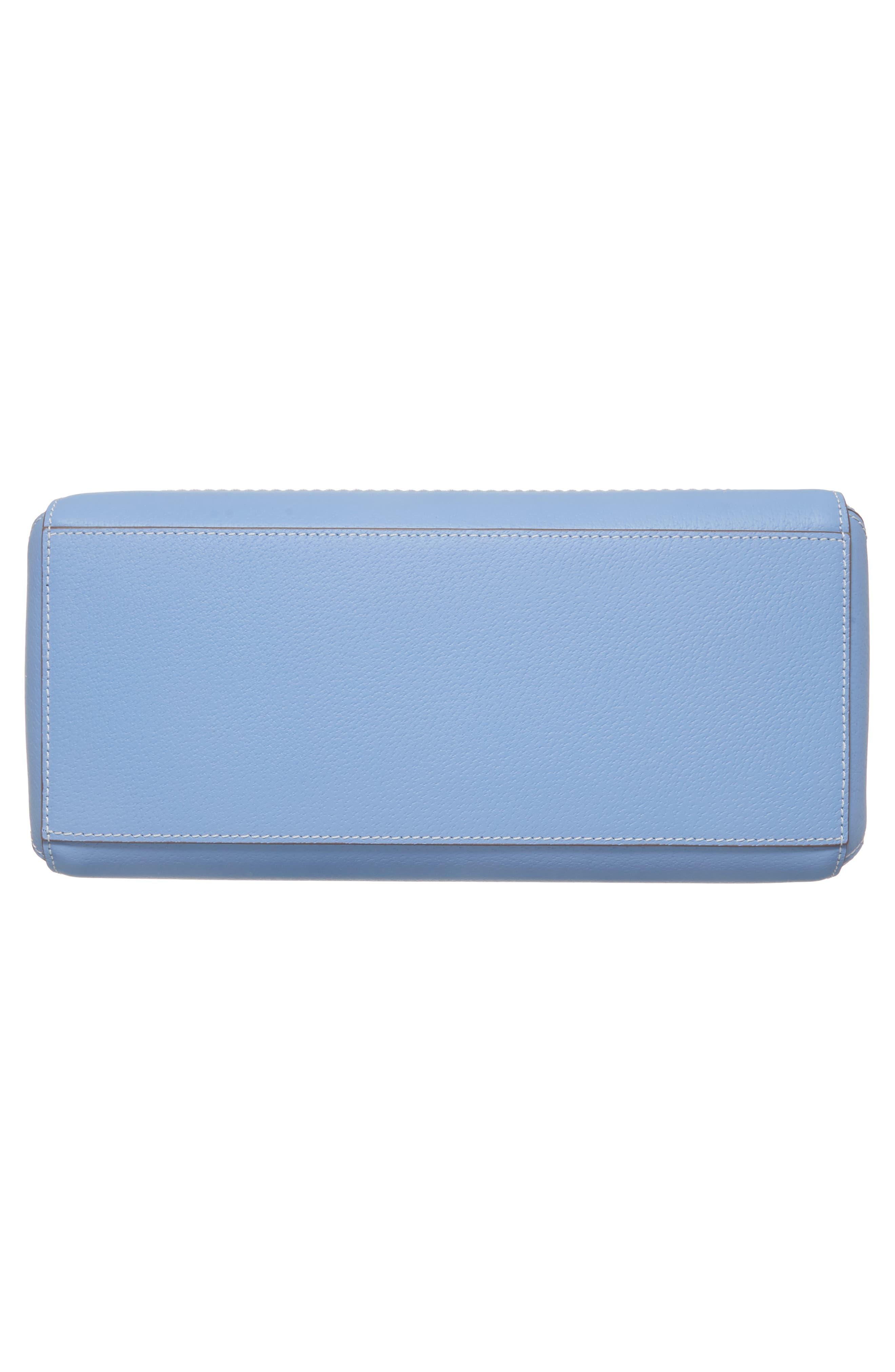 thompson street - marti leather shoulder/crossbody bag,                             Alternate thumbnail 6, color,                             Fable Blue