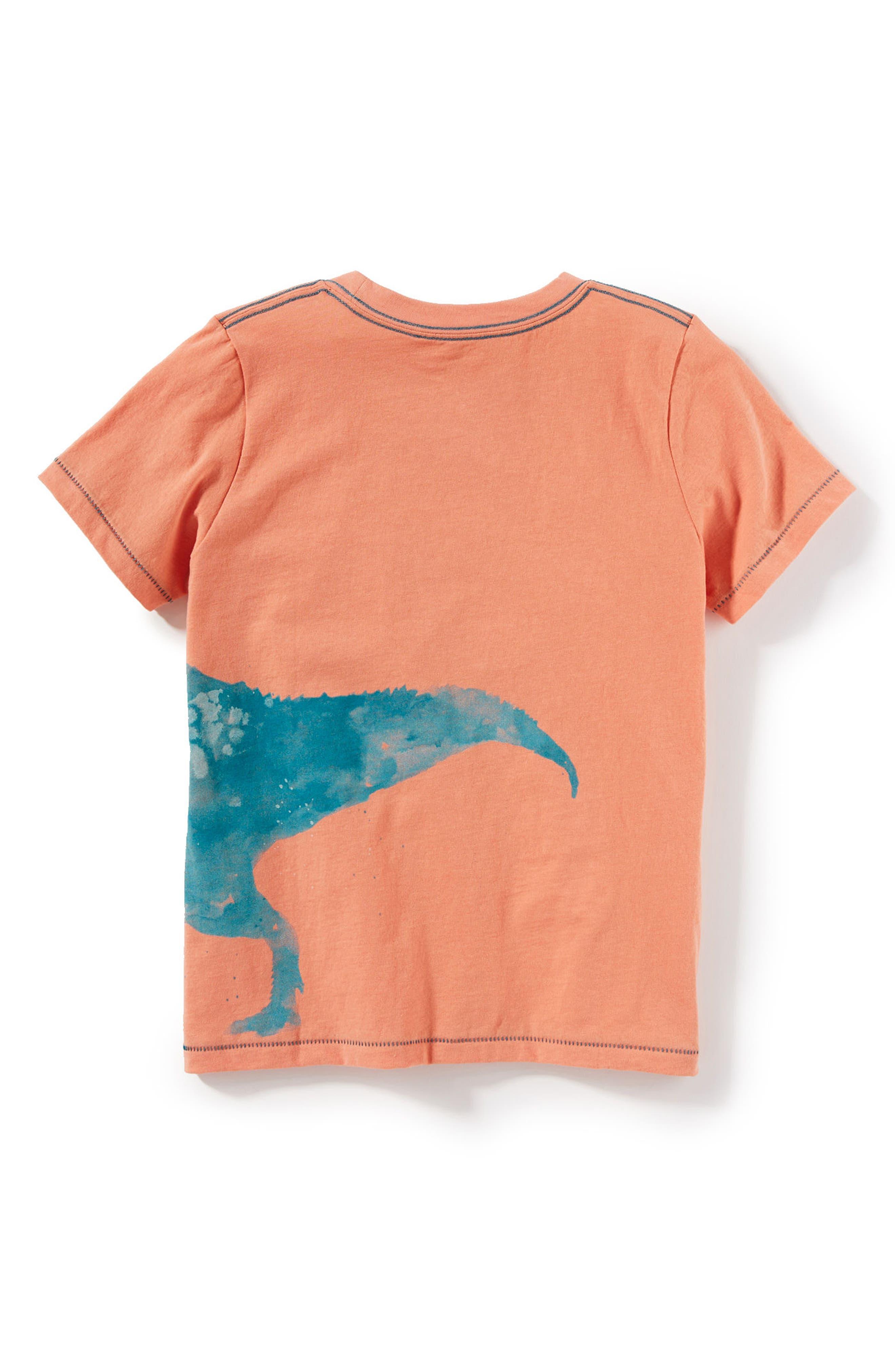Dinosaur Graphic T-Shirt,                             Alternate thumbnail 2, color,                             Coral