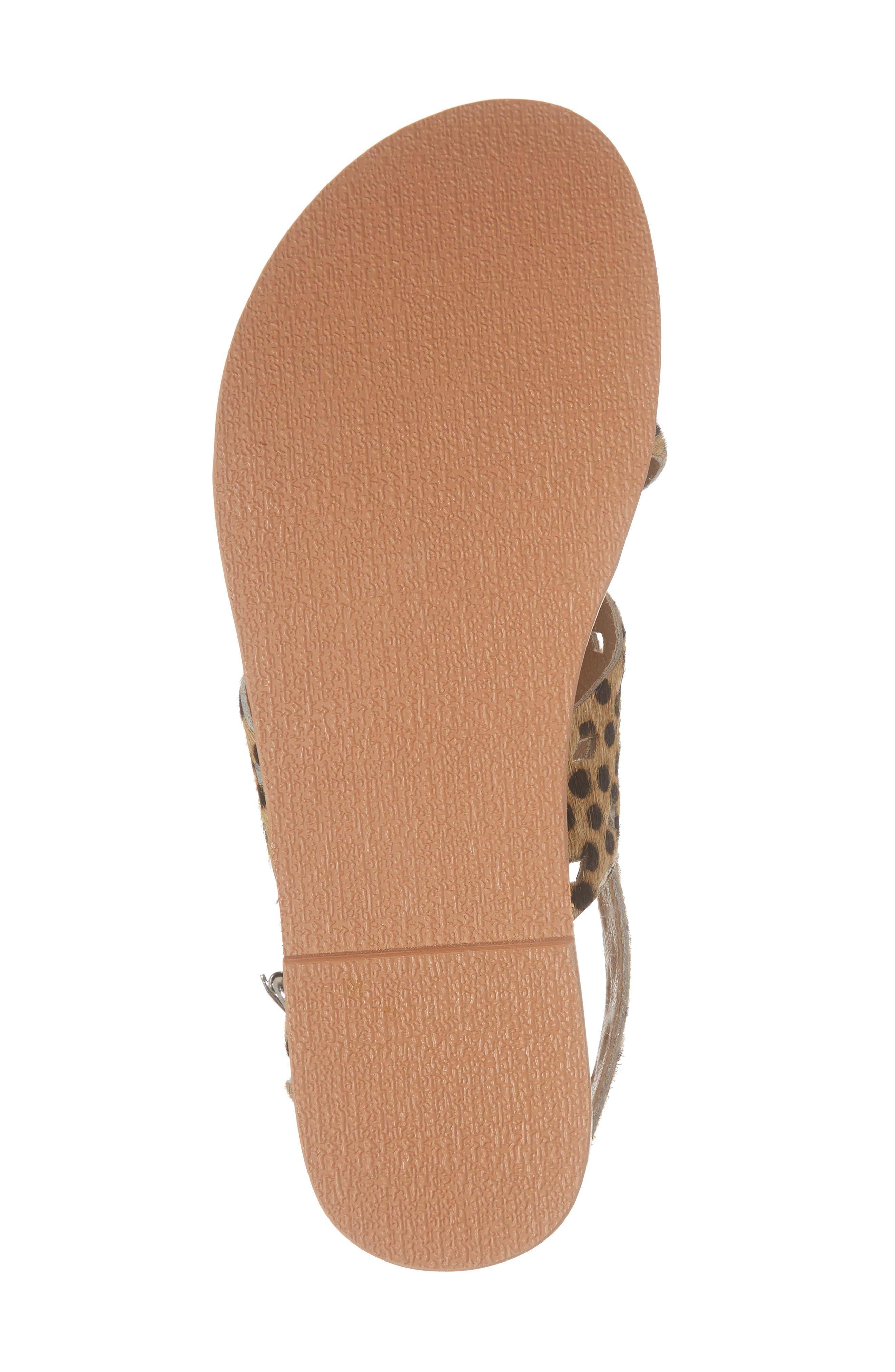 Whistler Genuine Calf Hair Sandal,                             Alternate thumbnail 6, color,                             Leopard