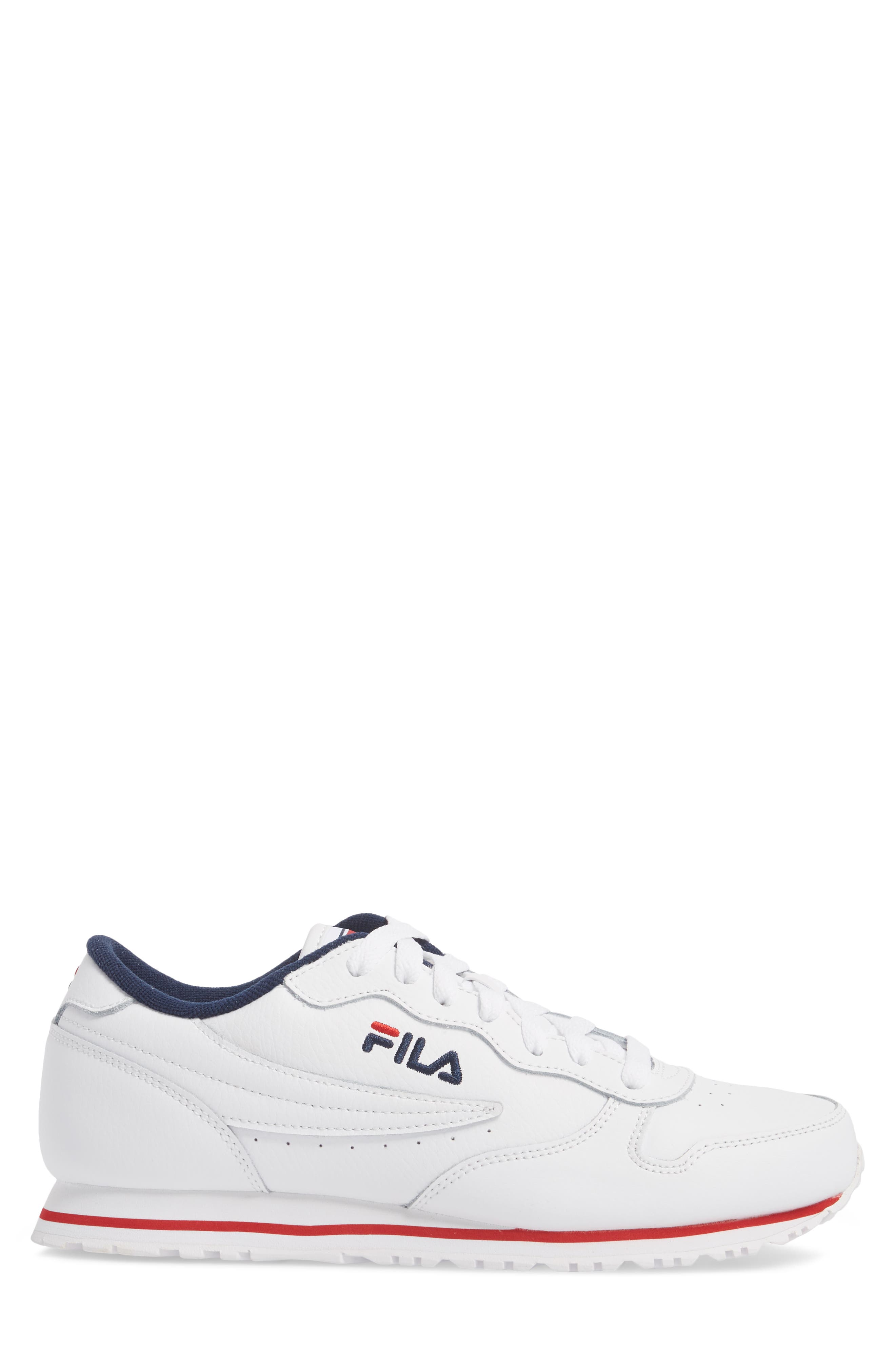 Euro Jogger Sneaker,                             Alternate thumbnail 3, color,                             White/ Navy/ Red