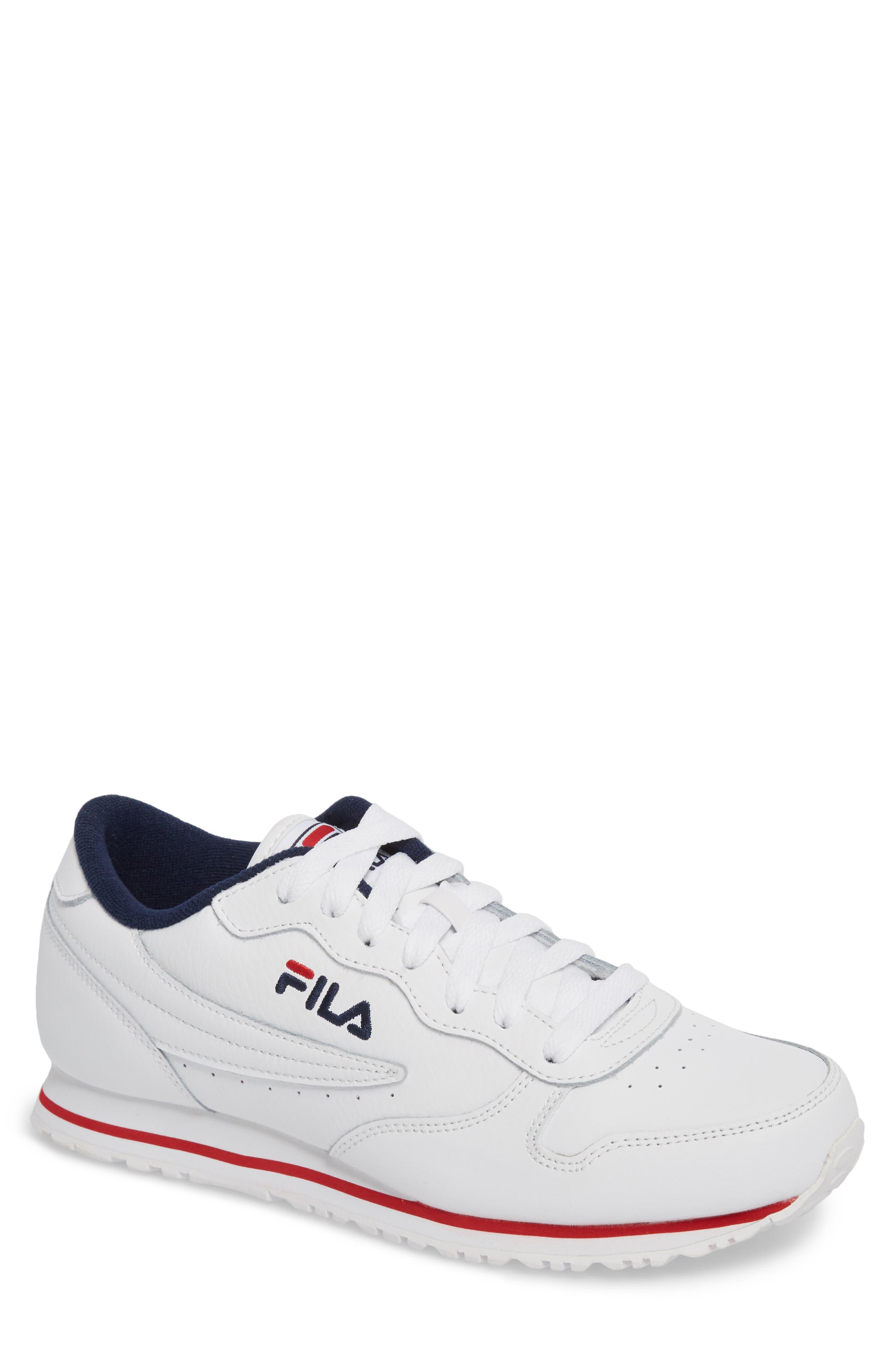 Fila Euro Jogger Sneaker In White  Navy  Red  f2b850c6e