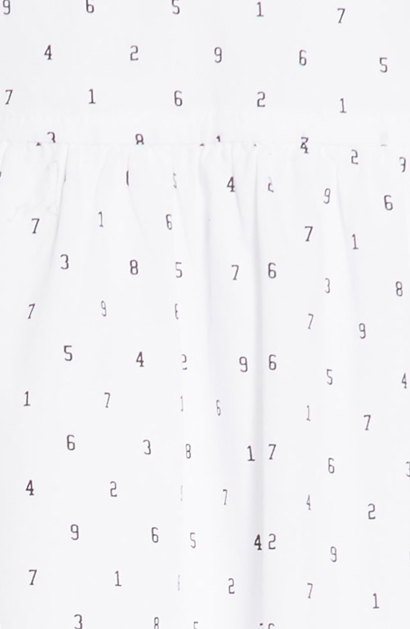 Cold Shoulder Dress,                             Alternate thumbnail 3, color,                             White Typewriter