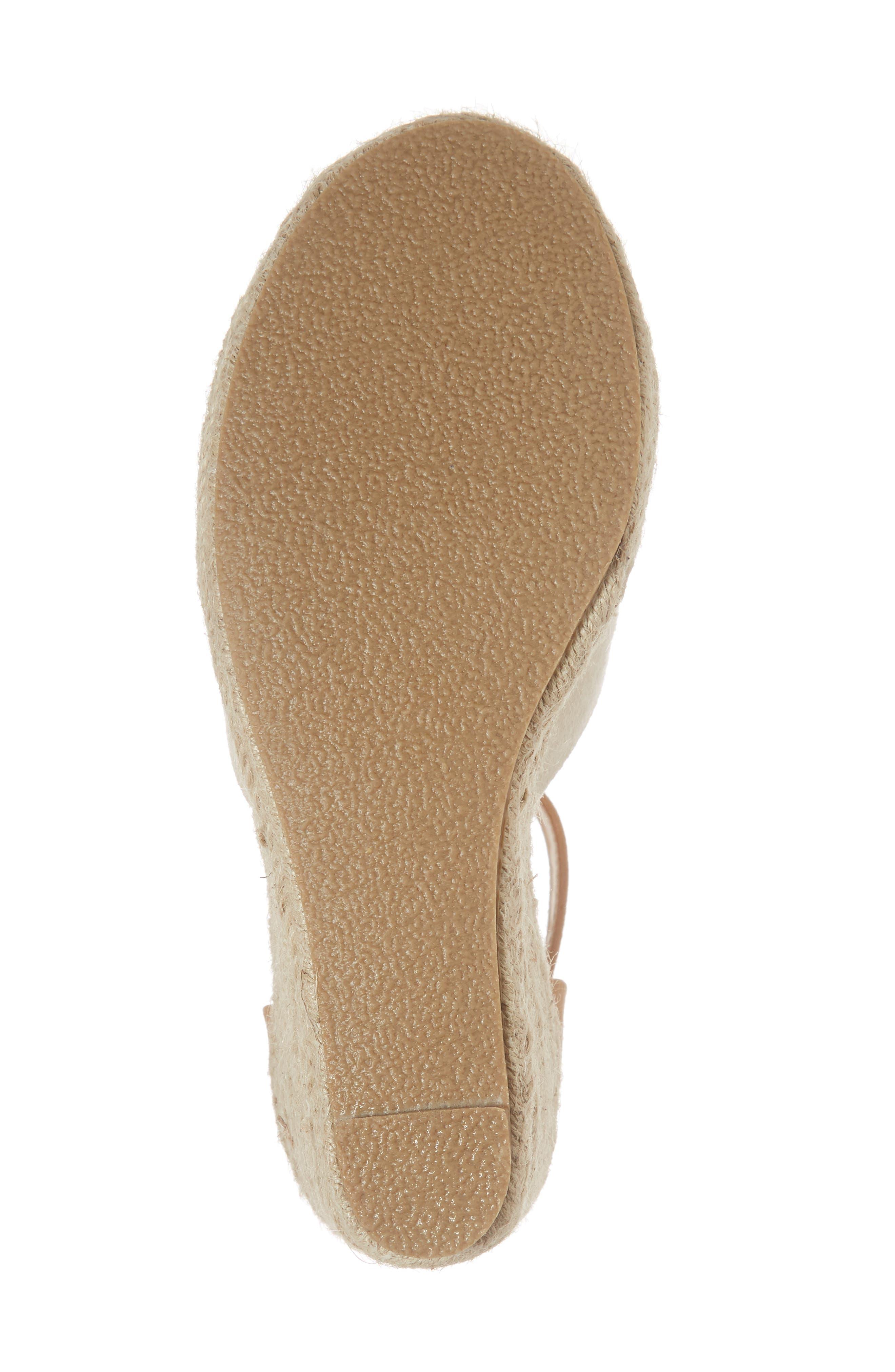 Flamingo Wedge Sandal,                             Alternate thumbnail 6, color,                             Natural Suede