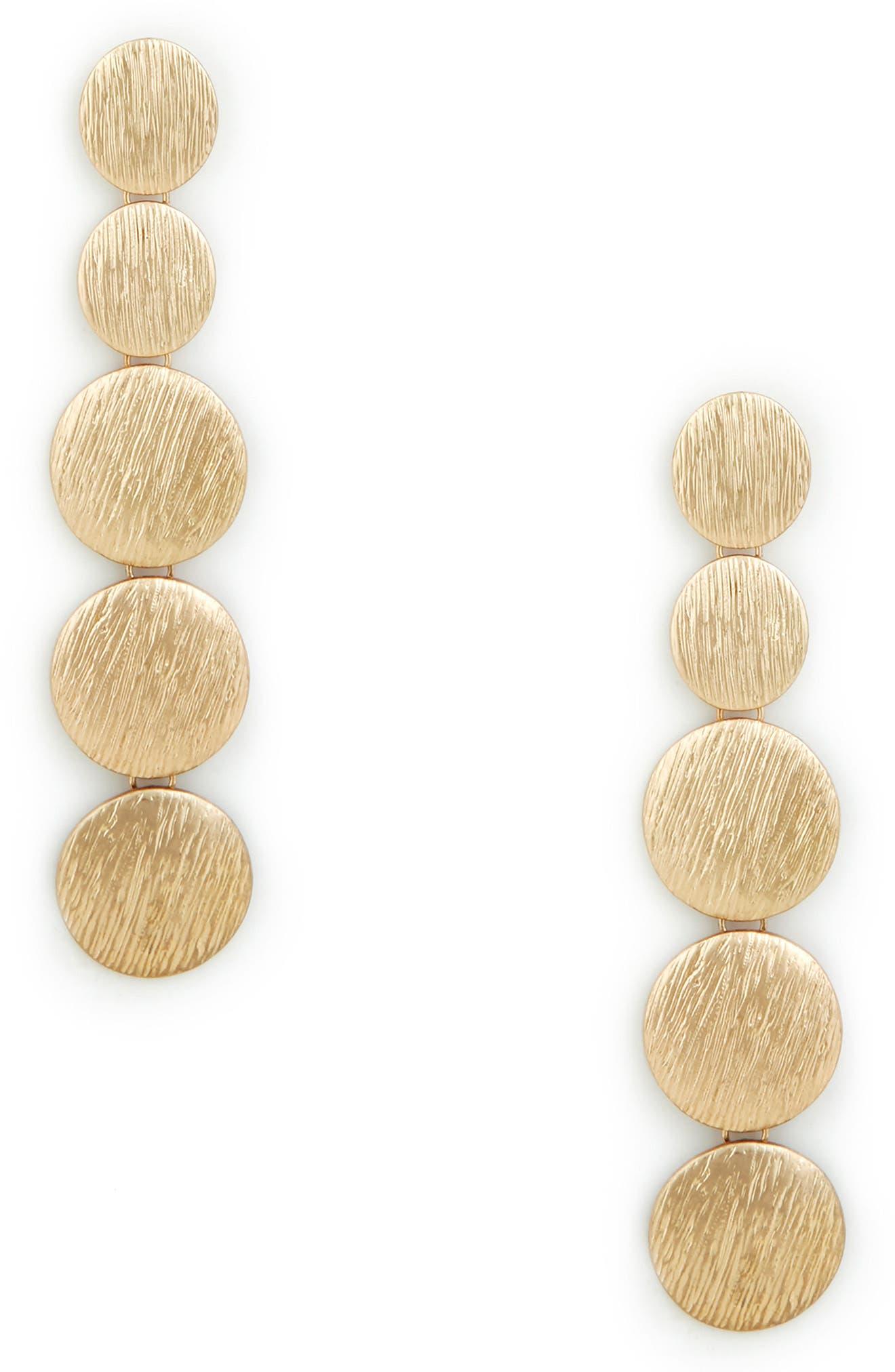Linear Orbit Duster Earrings,                         Main,                         color, Gold