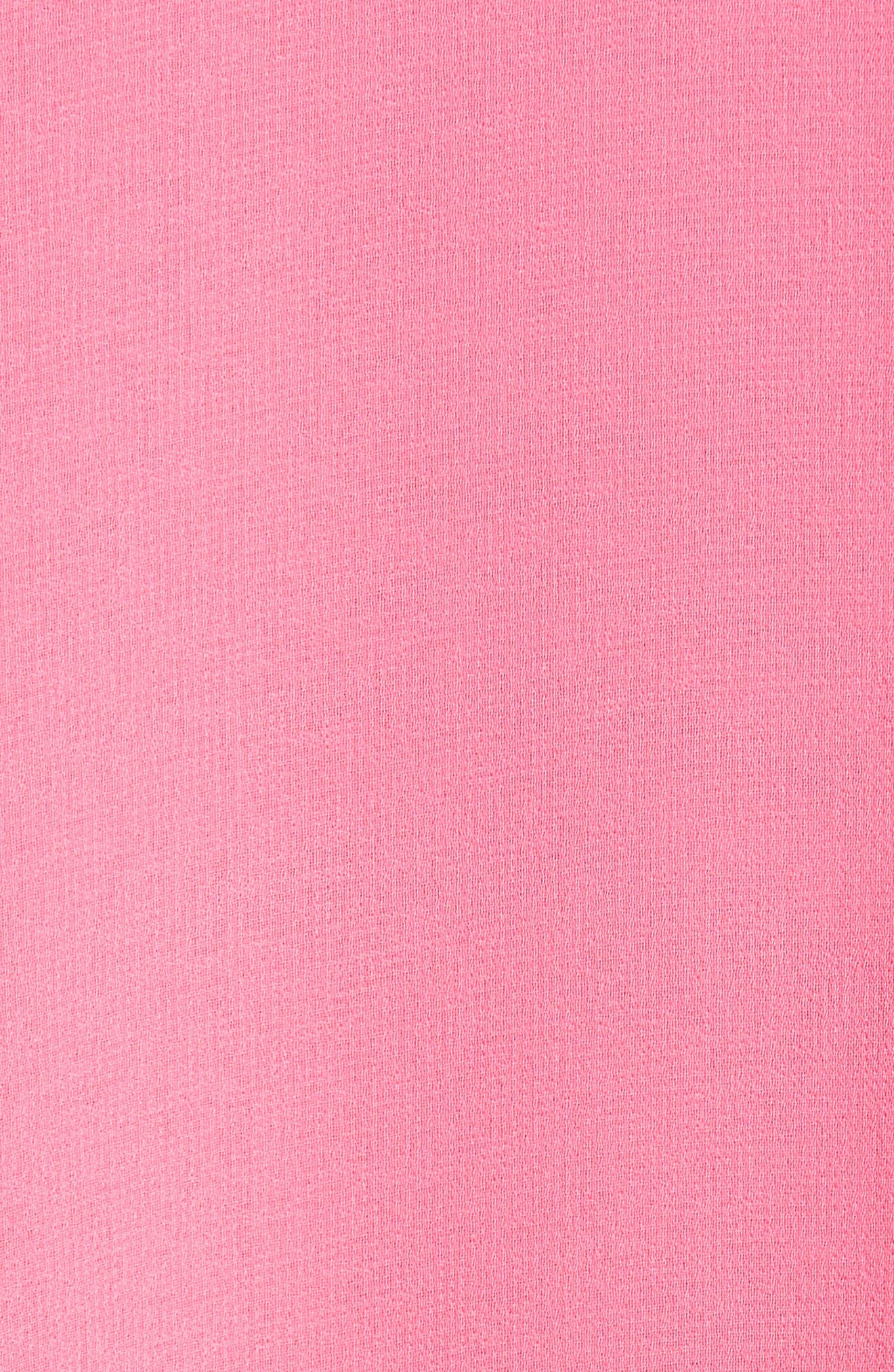 A-Line Chiffon Dress,                             Alternate thumbnail 5, color,                             Pink Zenna
