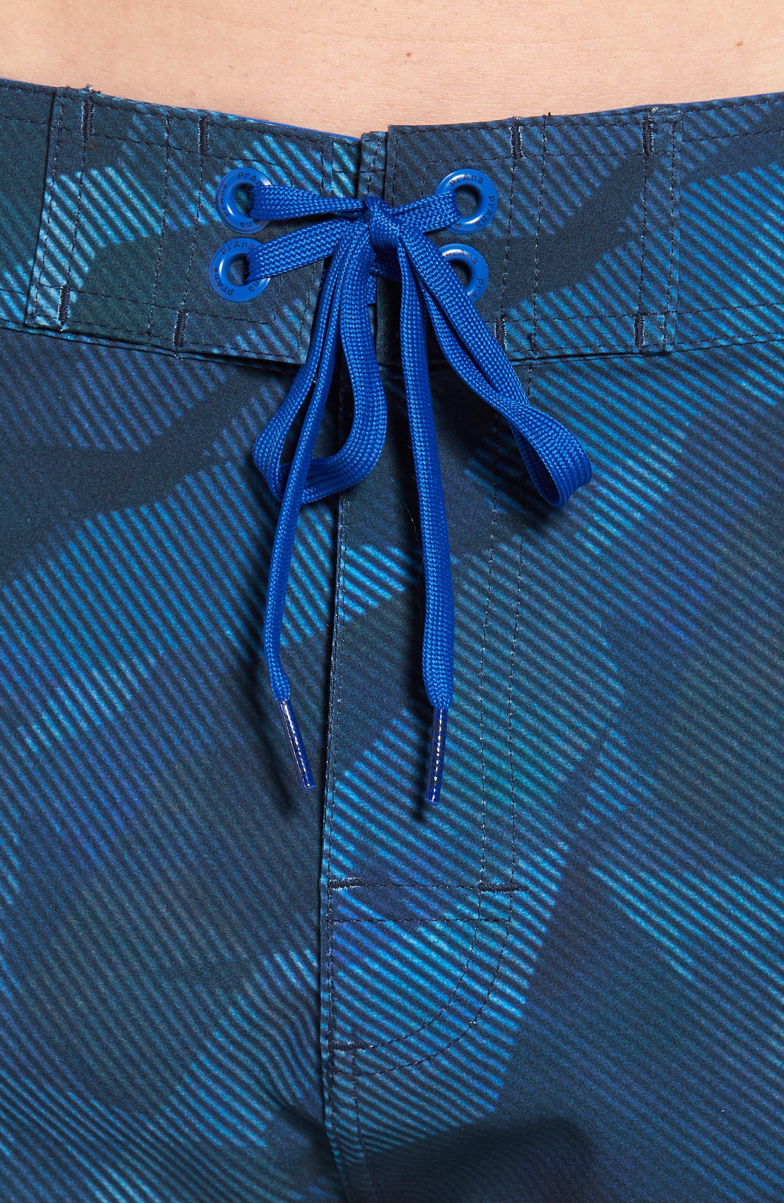 'Sediment' Stretch Board Shorts,                             Alternate thumbnail 4, color,                             Island Blue Hex