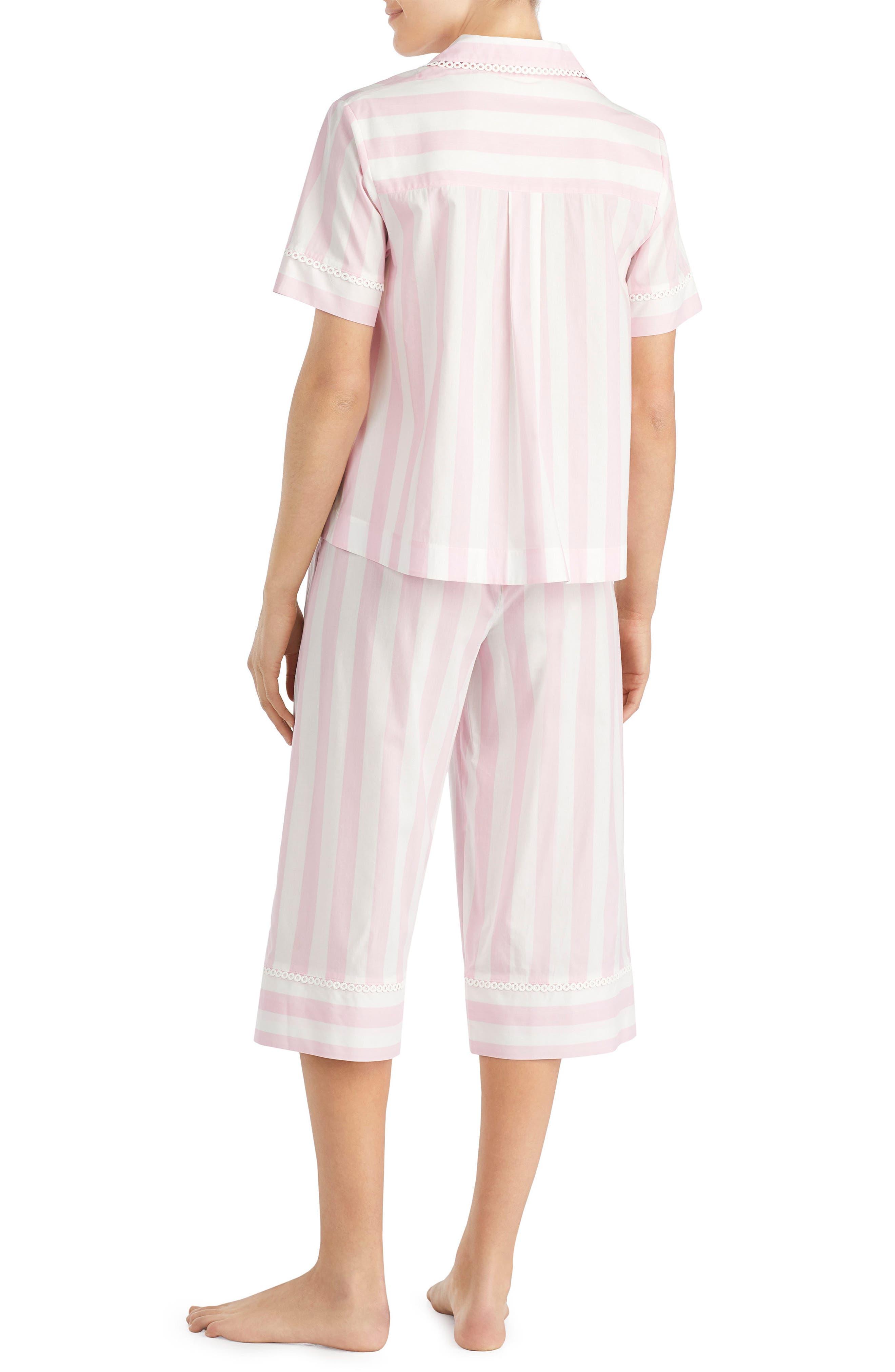 capri pajamas,                             Alternate thumbnail 2, color,                             Bay Stripe