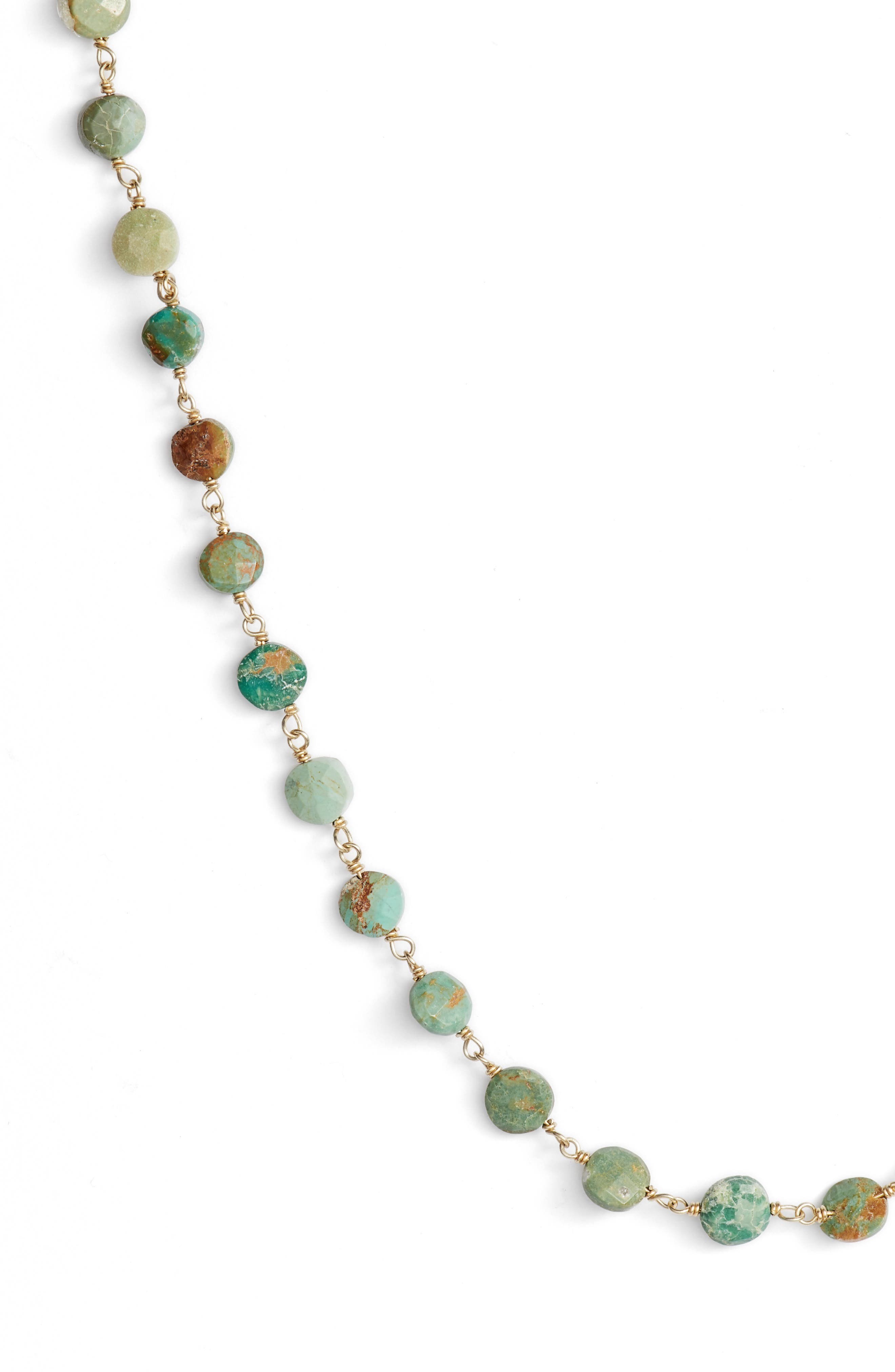 Diana Coin Necklace,                             Alternate thumbnail 2, color,                             Turquoise Coin