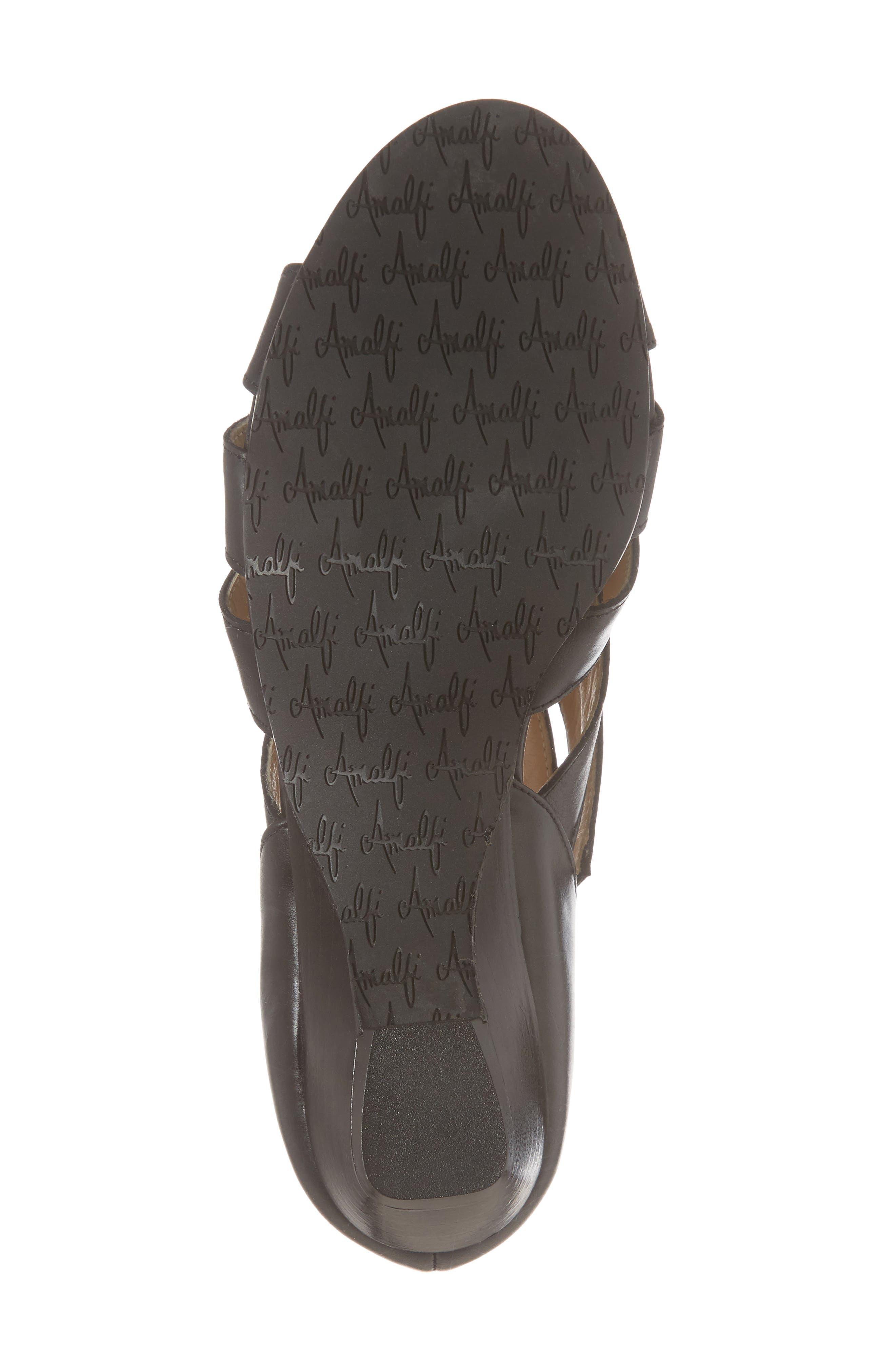 Demetra Sandal,                             Alternate thumbnail 6, color,                             Black Leather