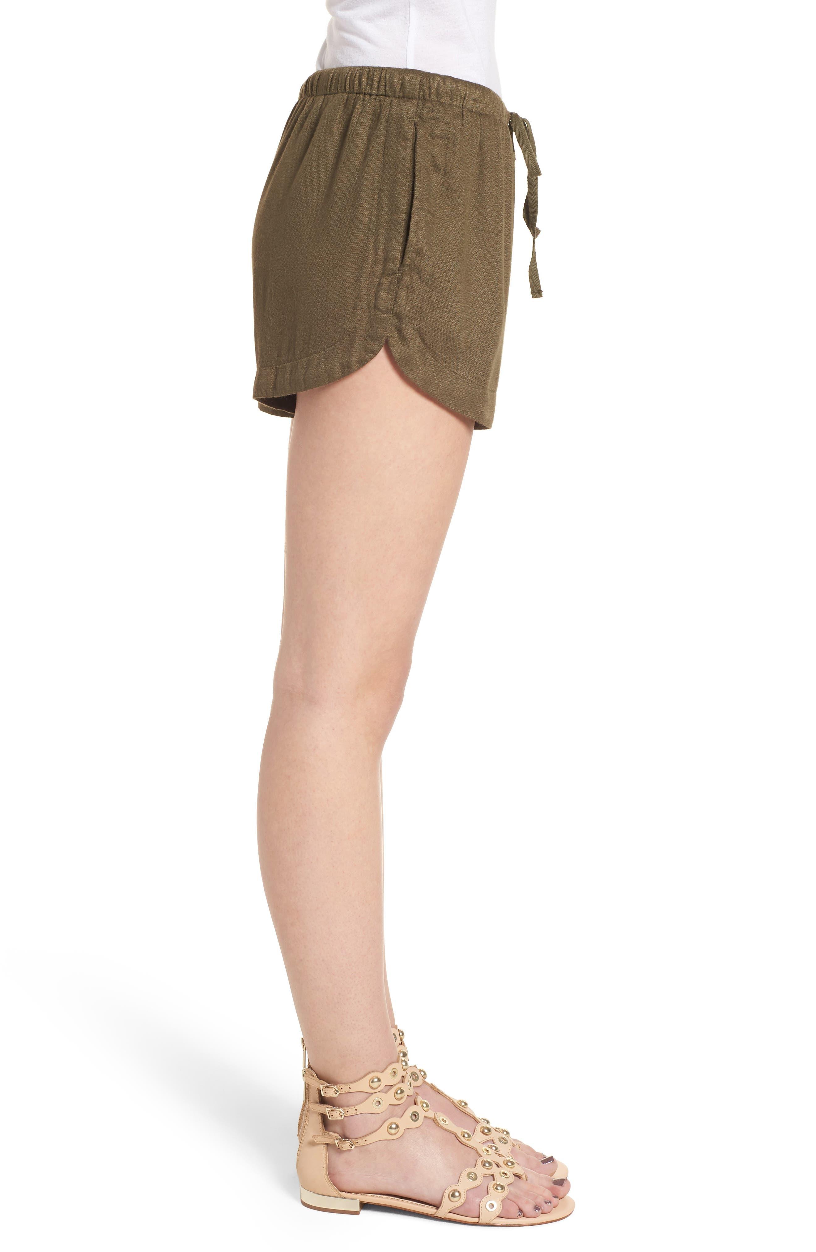 Vary Yume Shorts,                             Alternate thumbnail 3, color,                             Burnt Olive