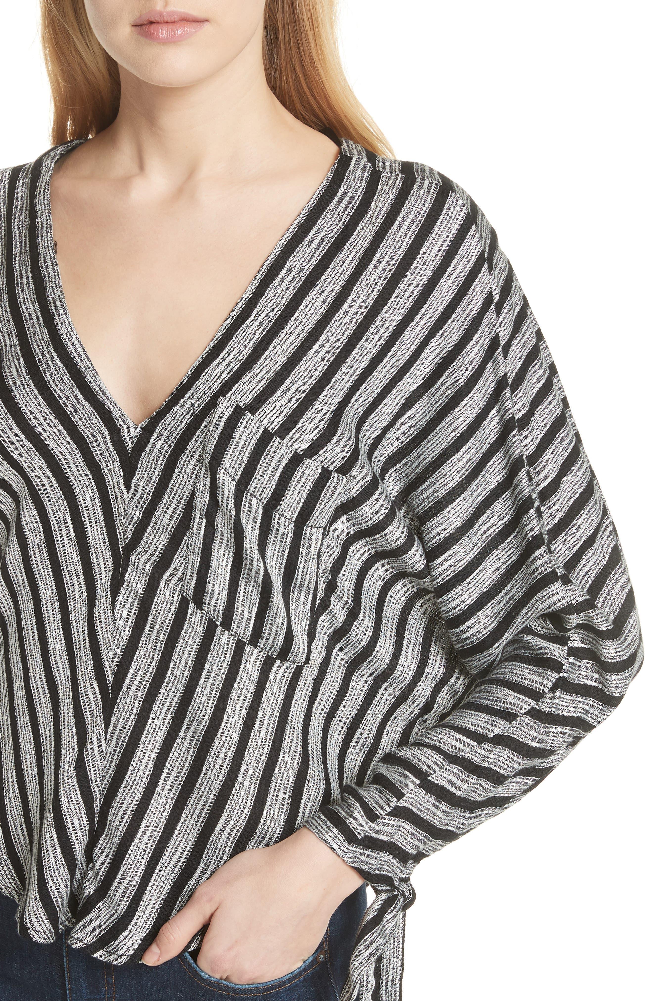 Alternate Image 4  - Free People Morning Stripe Dolman Top