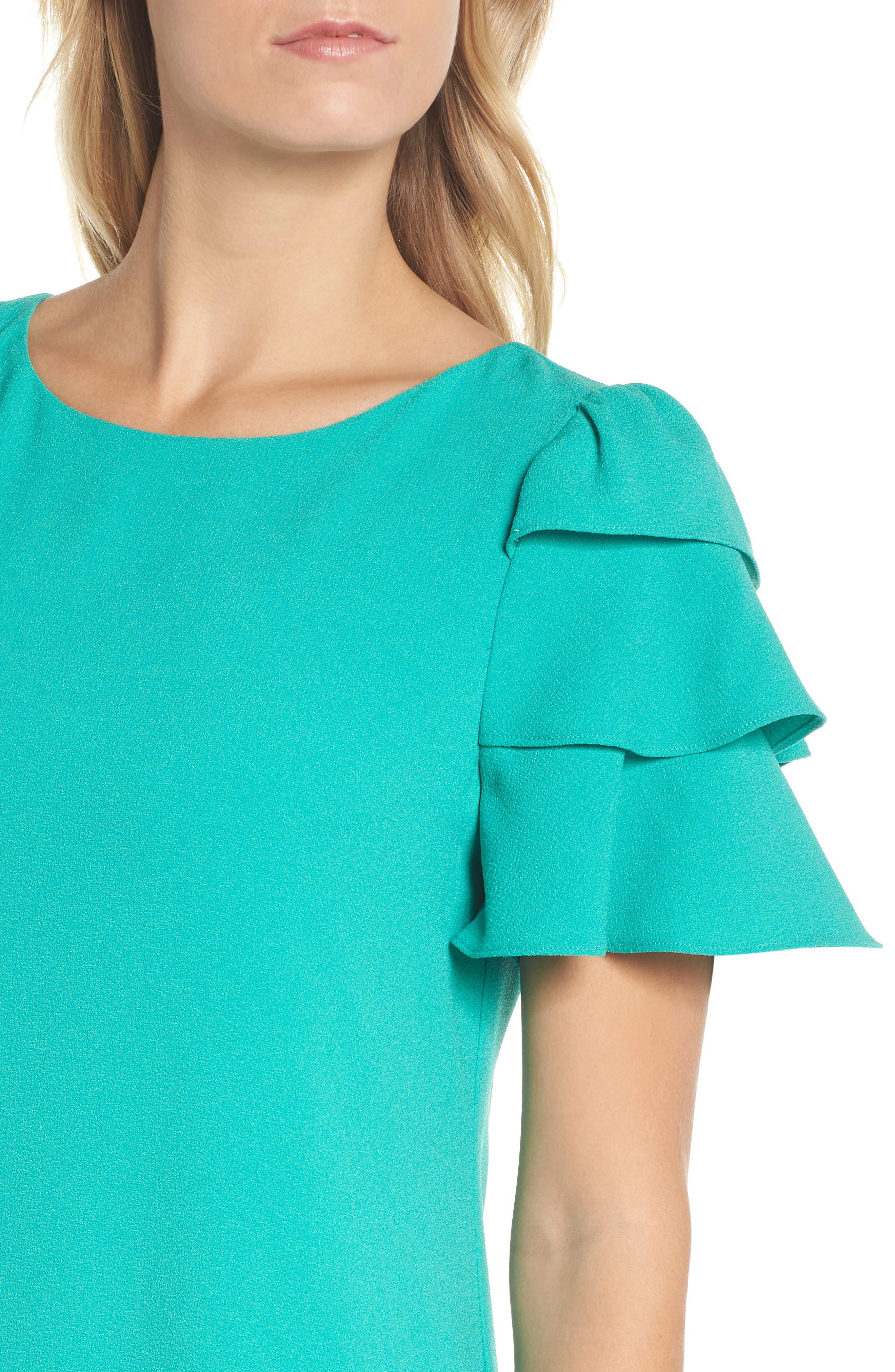 Alternate Image 4  - Charles Henry Tiered Ruffle Shift Dress (Regular & Petite)