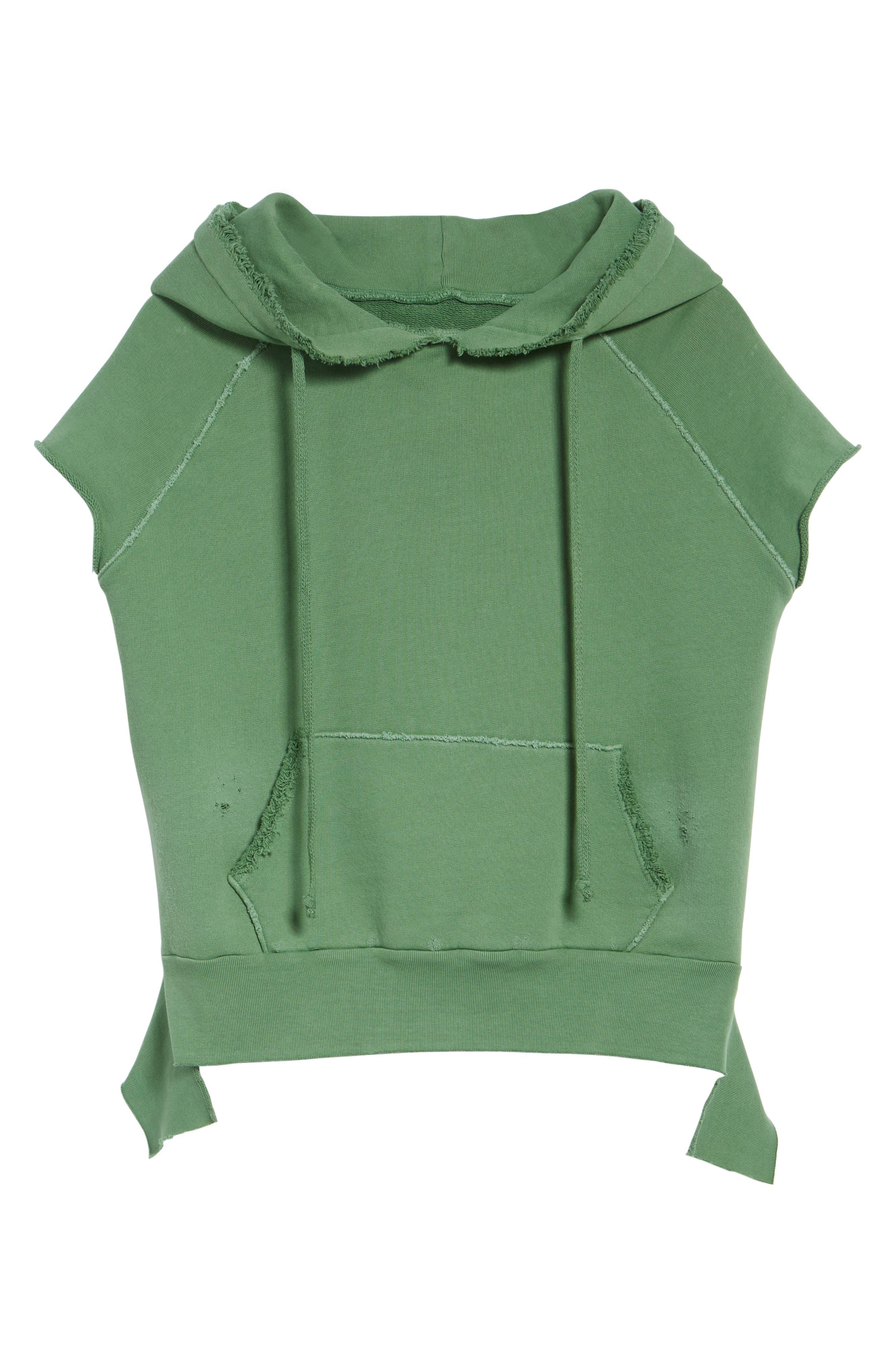 Short Sleeve Pullover Hoodie,                             Alternate thumbnail 7, color,                             Envied 5 Year Vintage Wash