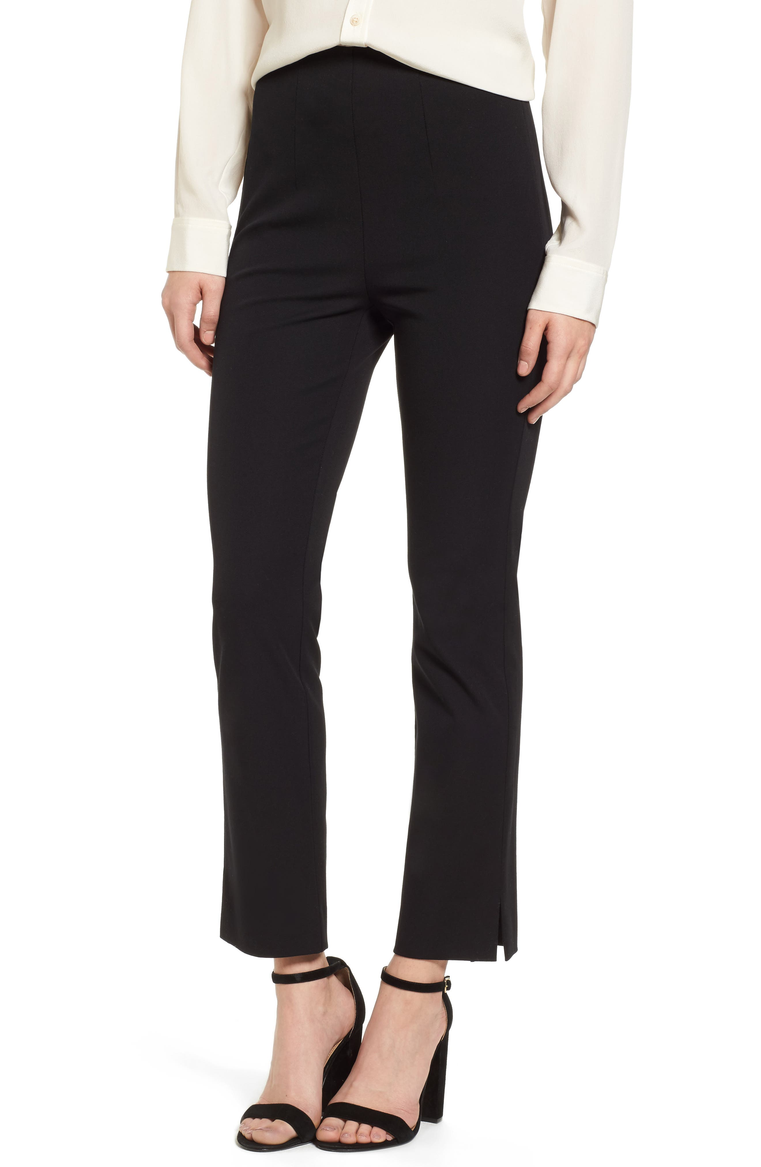Emerson Rose Side Zip Ankle Stretch Cotton Pants