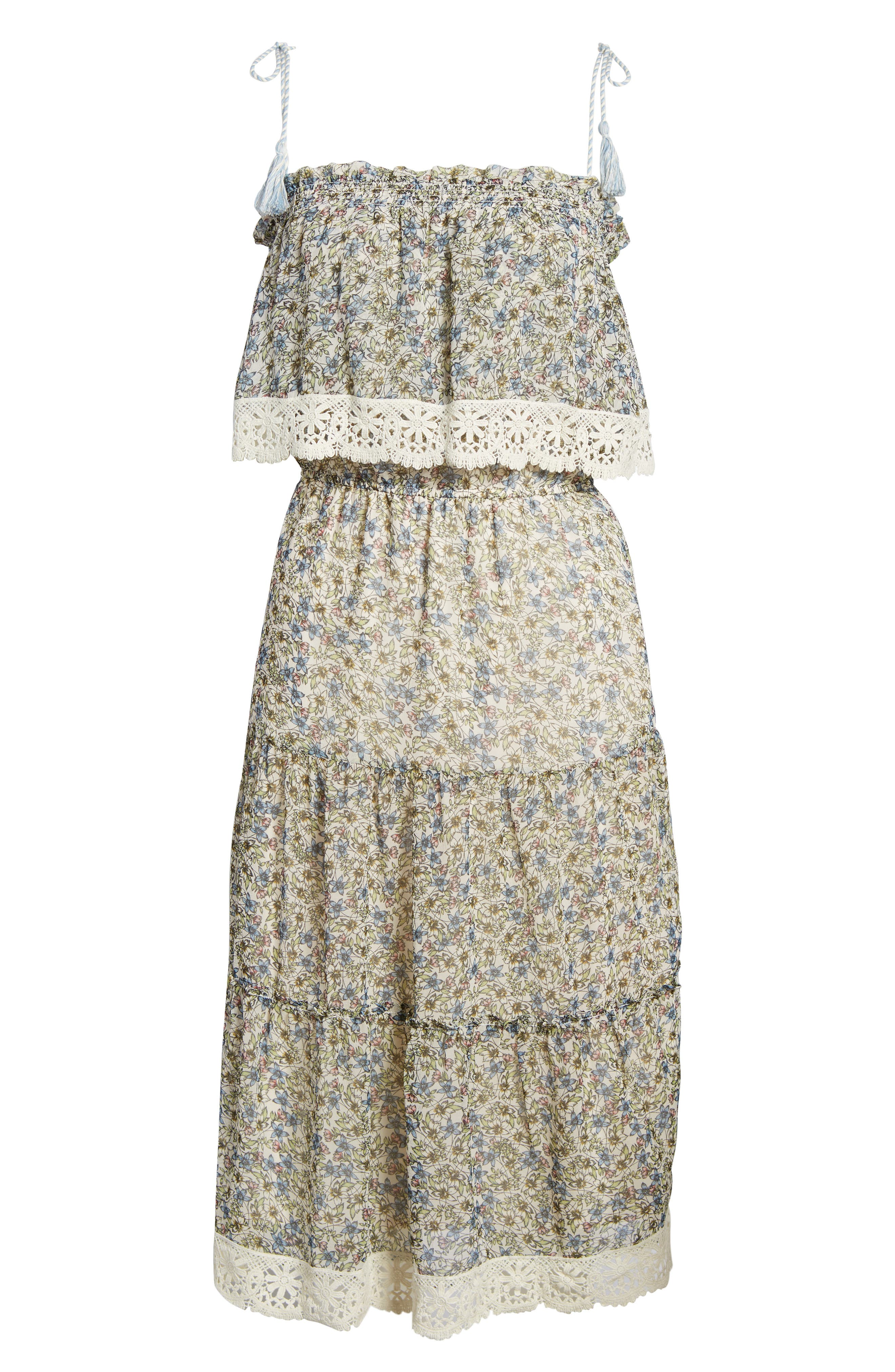 Deda Popover Dress,                             Alternate thumbnail 6, color,                             Oatmeal