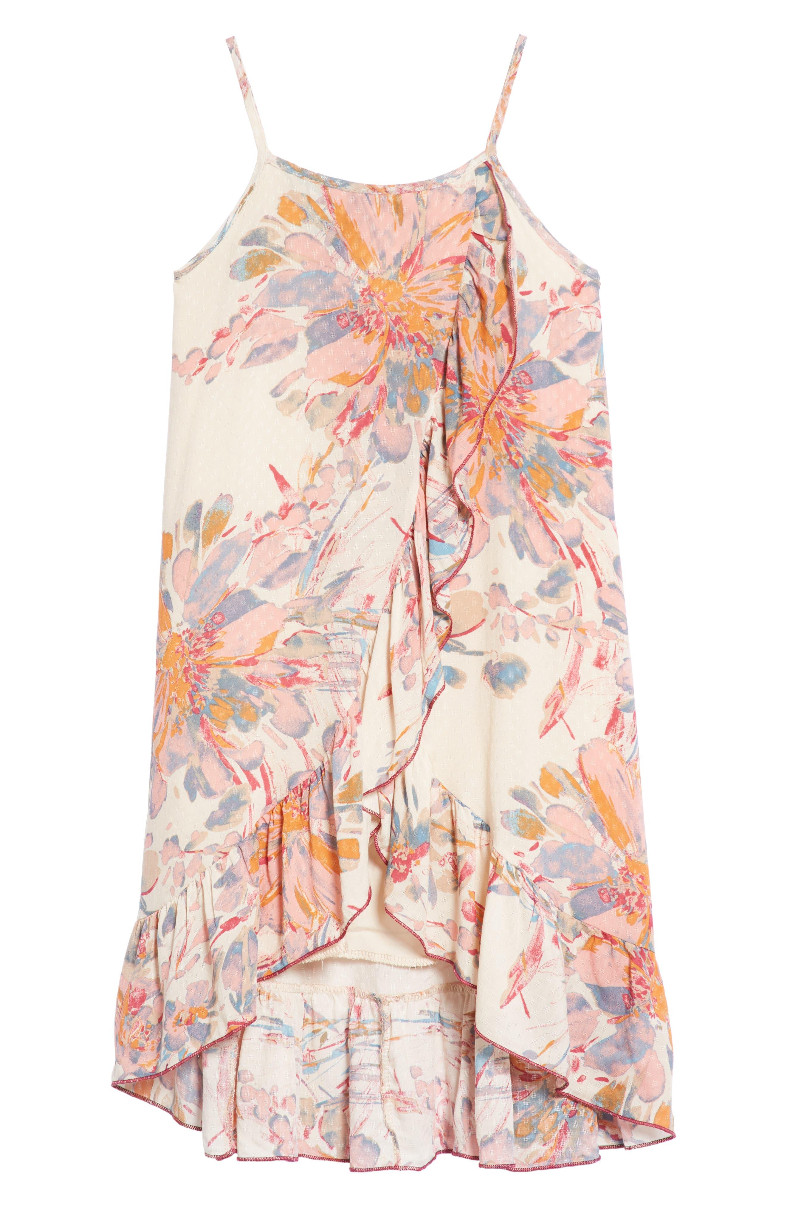 Zinnia Floral Ruffle Sundress,                         Main,                         color, Multi