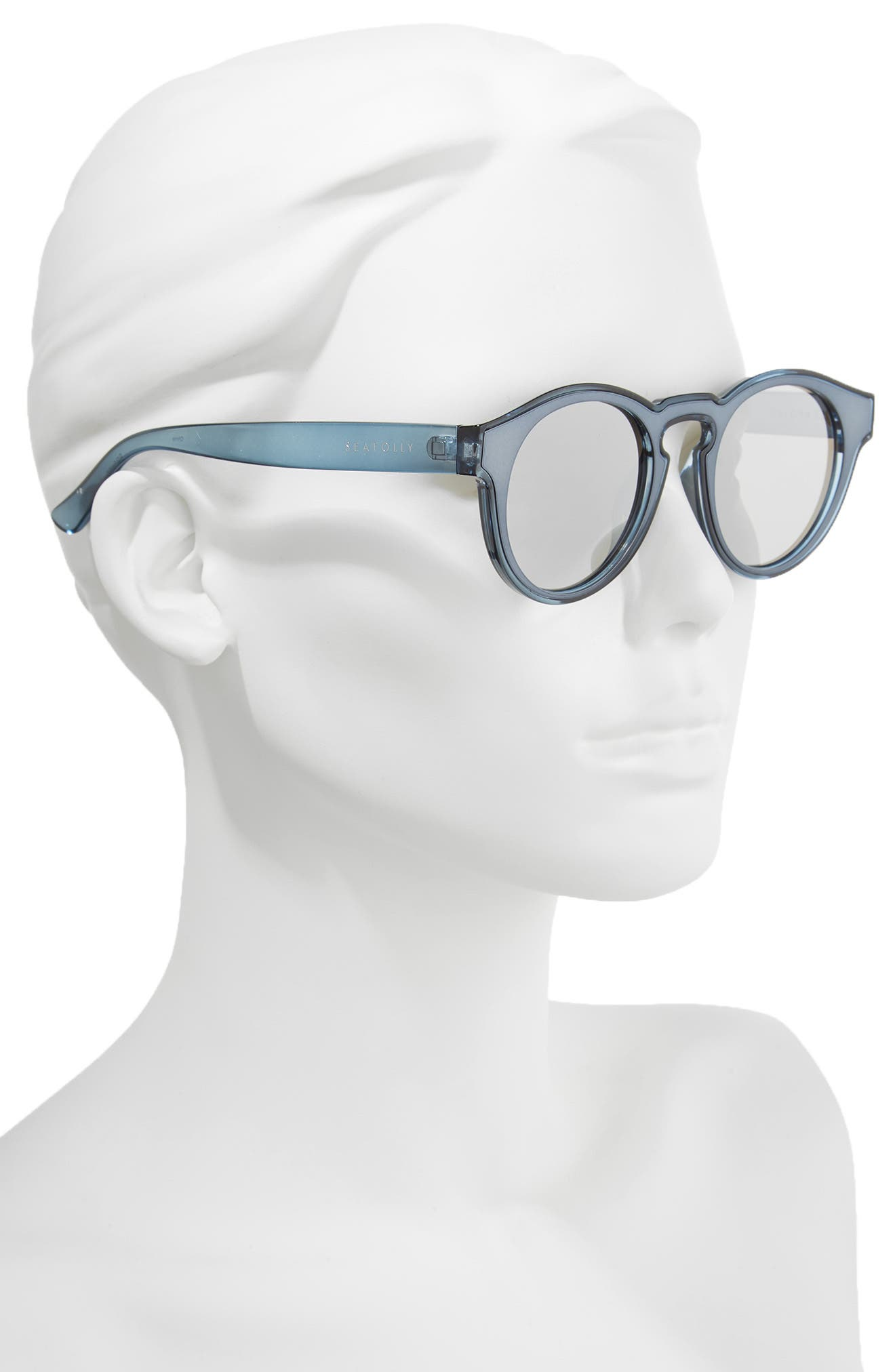Bronte 50mm Sunglasses,                             Alternate thumbnail 2, color,                             Blue Stone