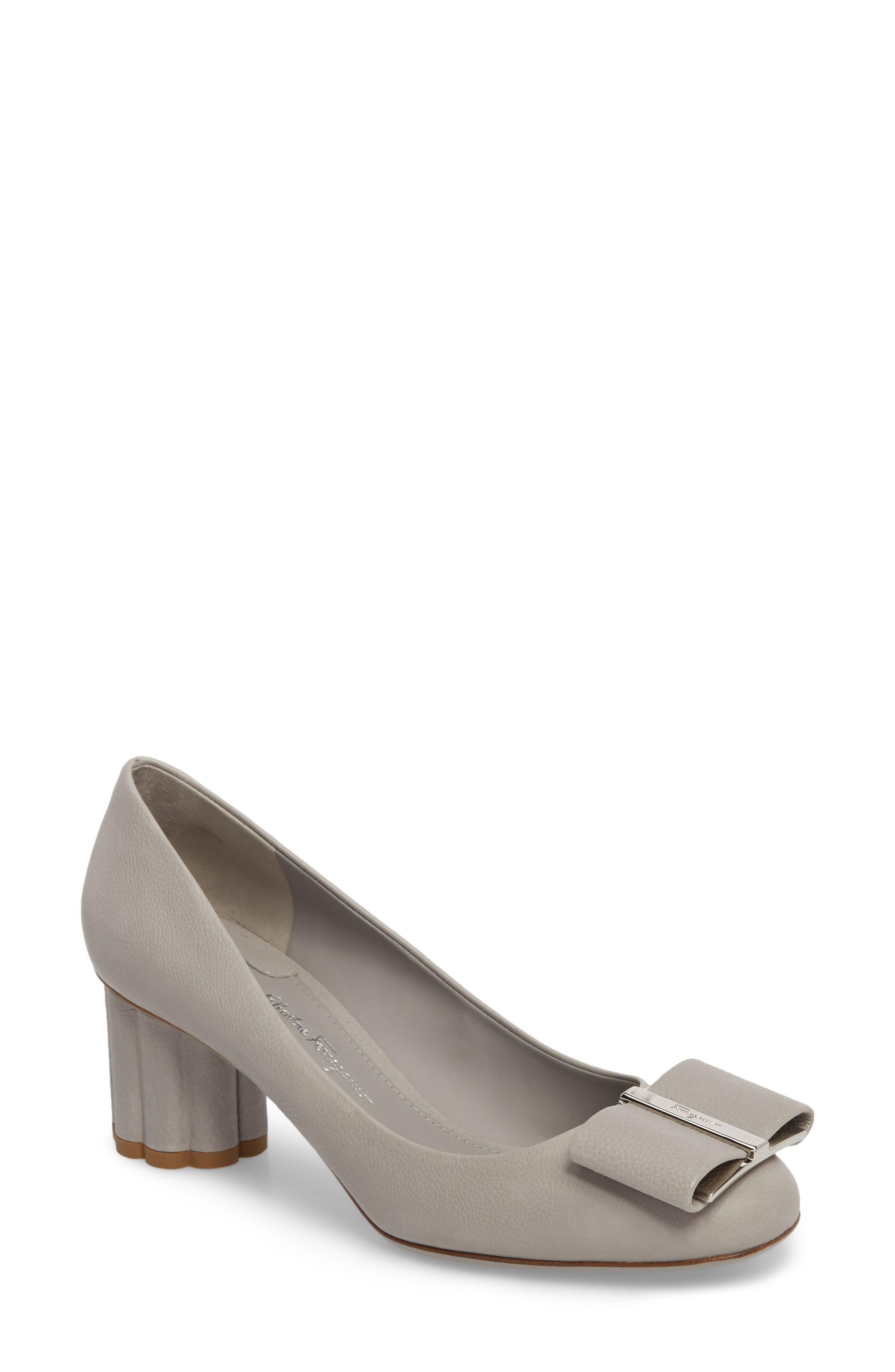 Salvatore Ferragamo Bow Flower Heel Pump (Women)